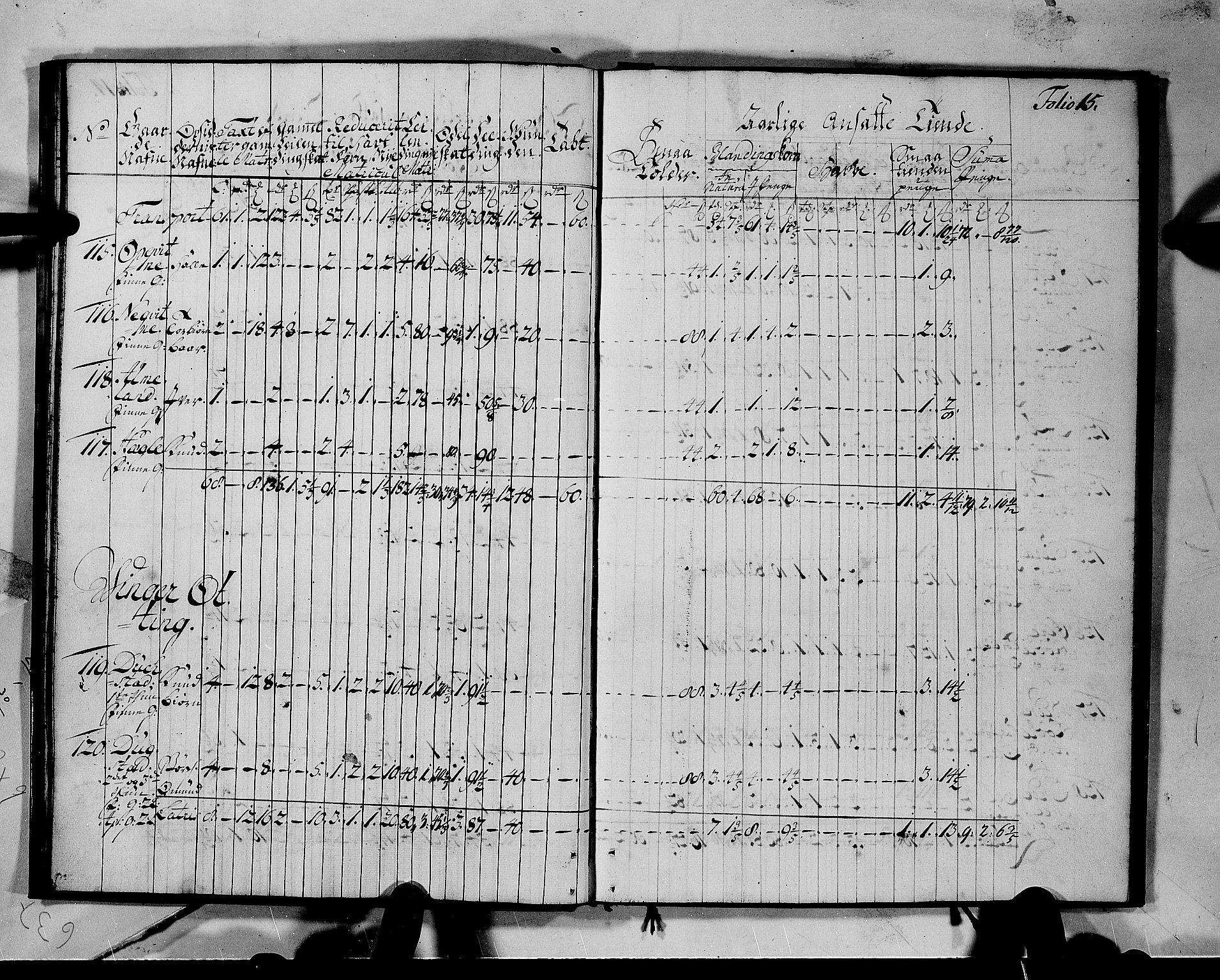 RA, Rentekammeret inntil 1814, Realistisk ordnet avdeling, N/Nb/Nbf/L0142: Voss matrikkelprotokoll, 1723, s. 14b-15a