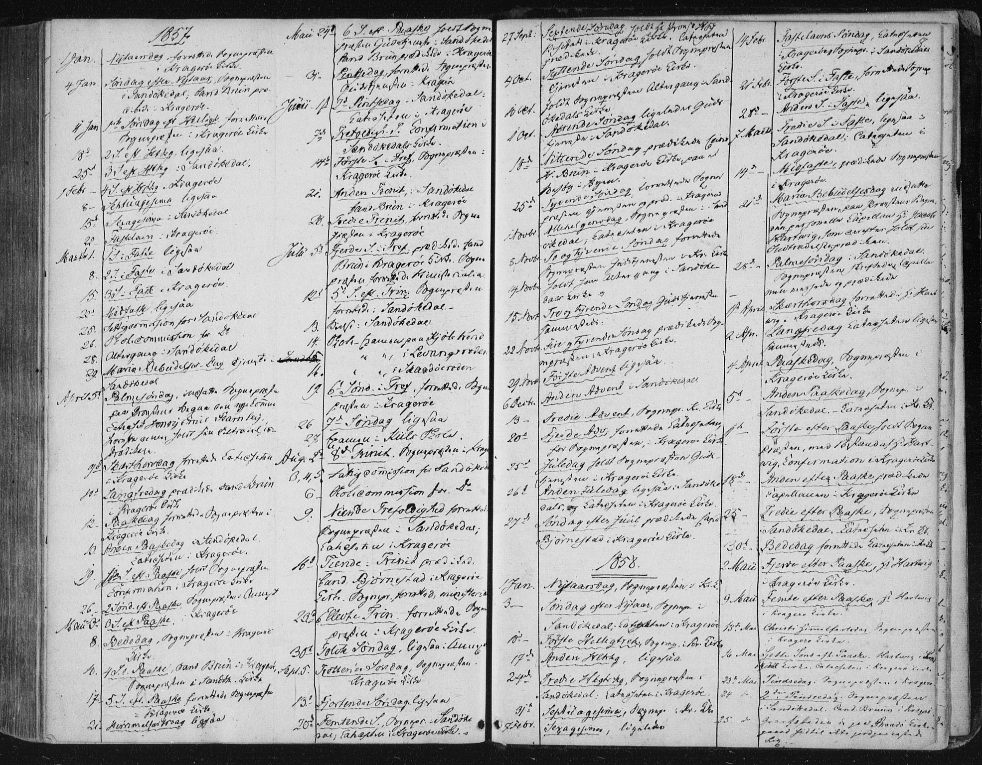 SAKO, Kragerø kirkebøker, F/Fa/L0006: Ministerialbok nr. 6, 1847-1861, s. 8