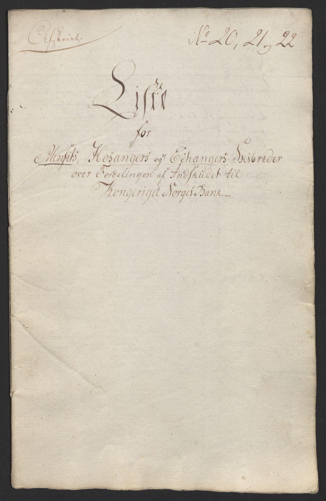 NOBA, Norges Bank/Sølvskatten 1816*, 1816-1824, s. 58