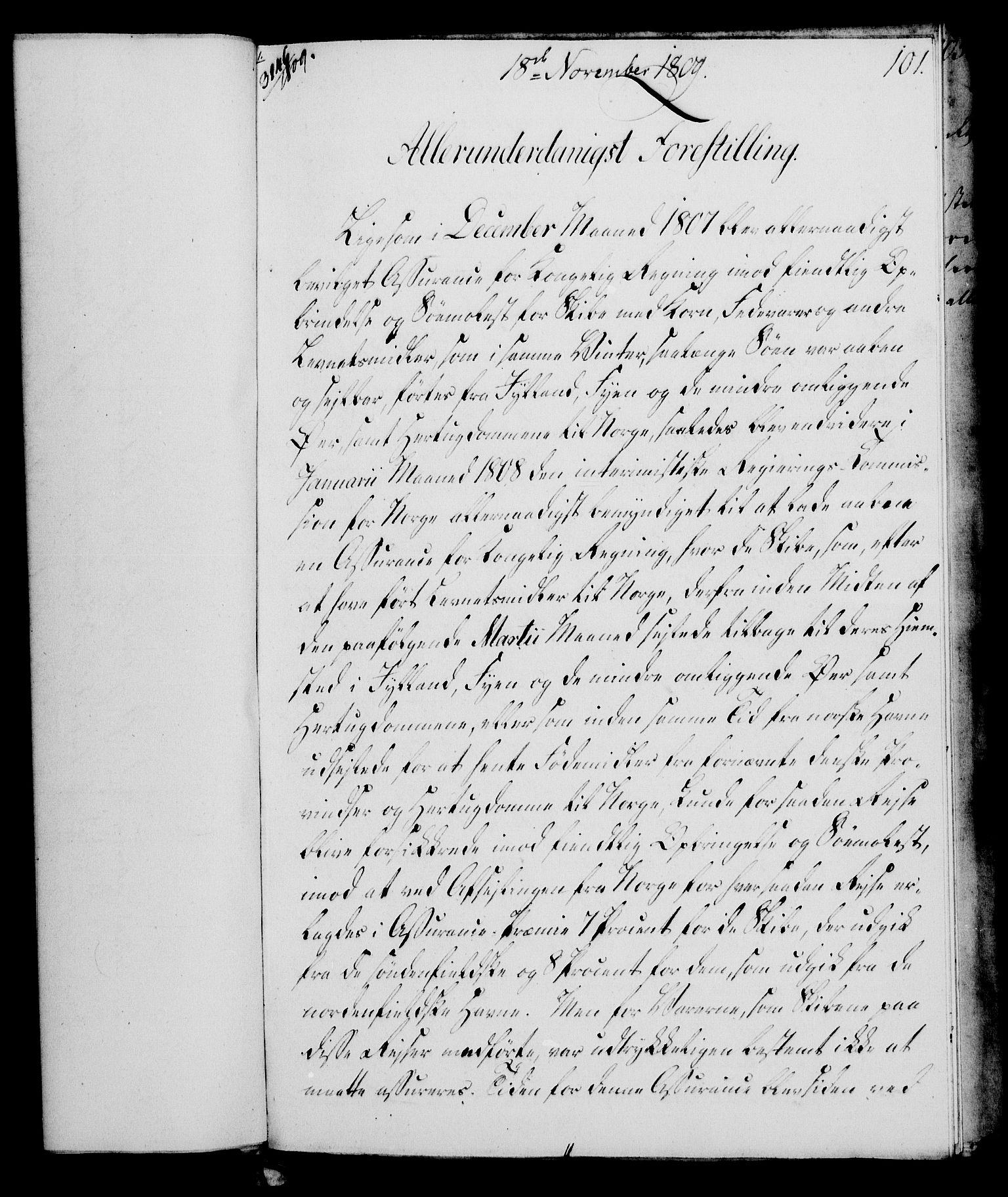 RA, Rentekammeret, Kammerkanselliet, G/Gf/Gfa/L0091: Norsk relasjons- og resolusjonsprotokoll (merket RK 52.91), 1809, s. 407