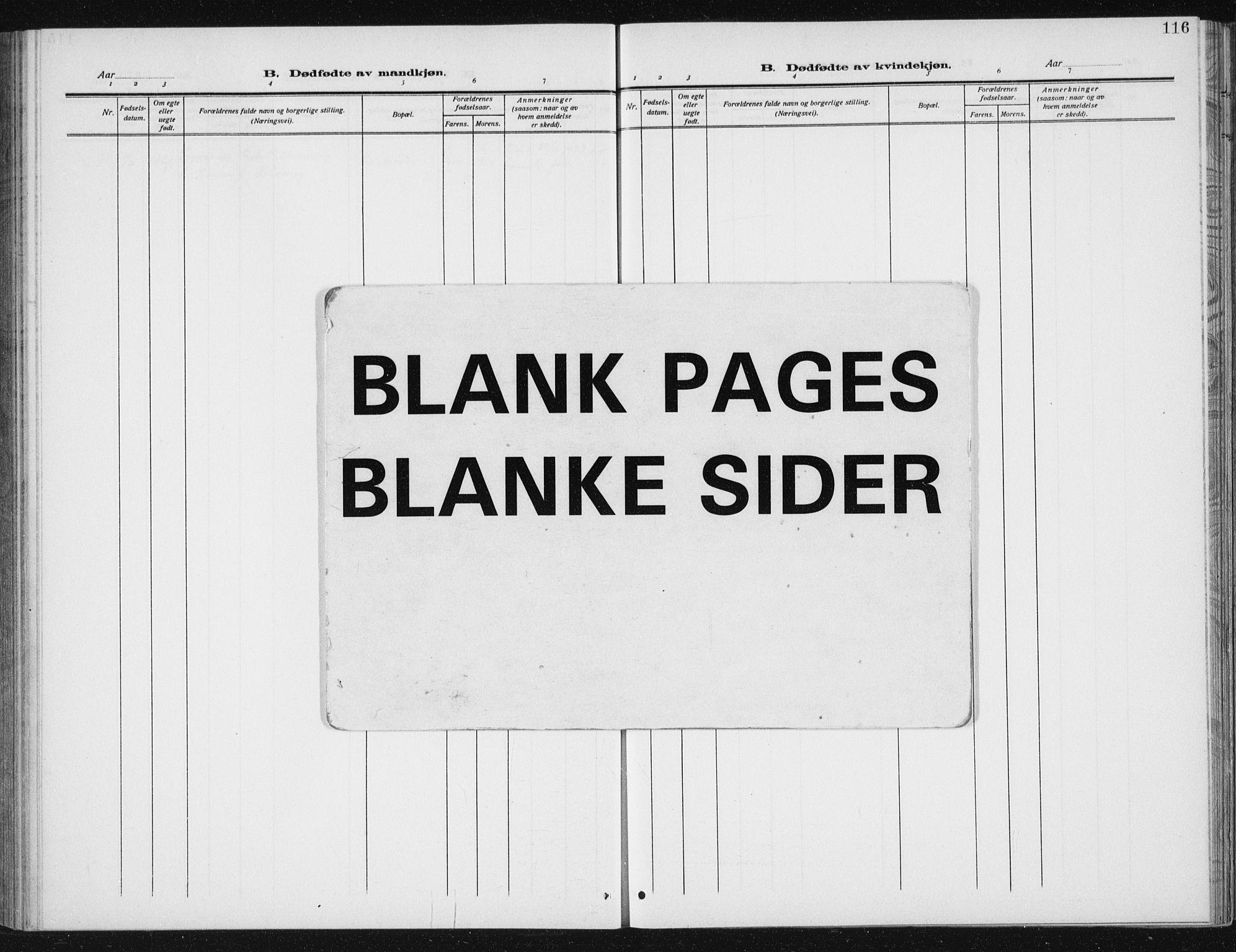 SAT, Ministerialprotokoller, klokkerbøker og fødselsregistre - Sør-Trøndelag, 617/L0431: Klokkerbok nr. 617C02, 1910-1936, s. 116