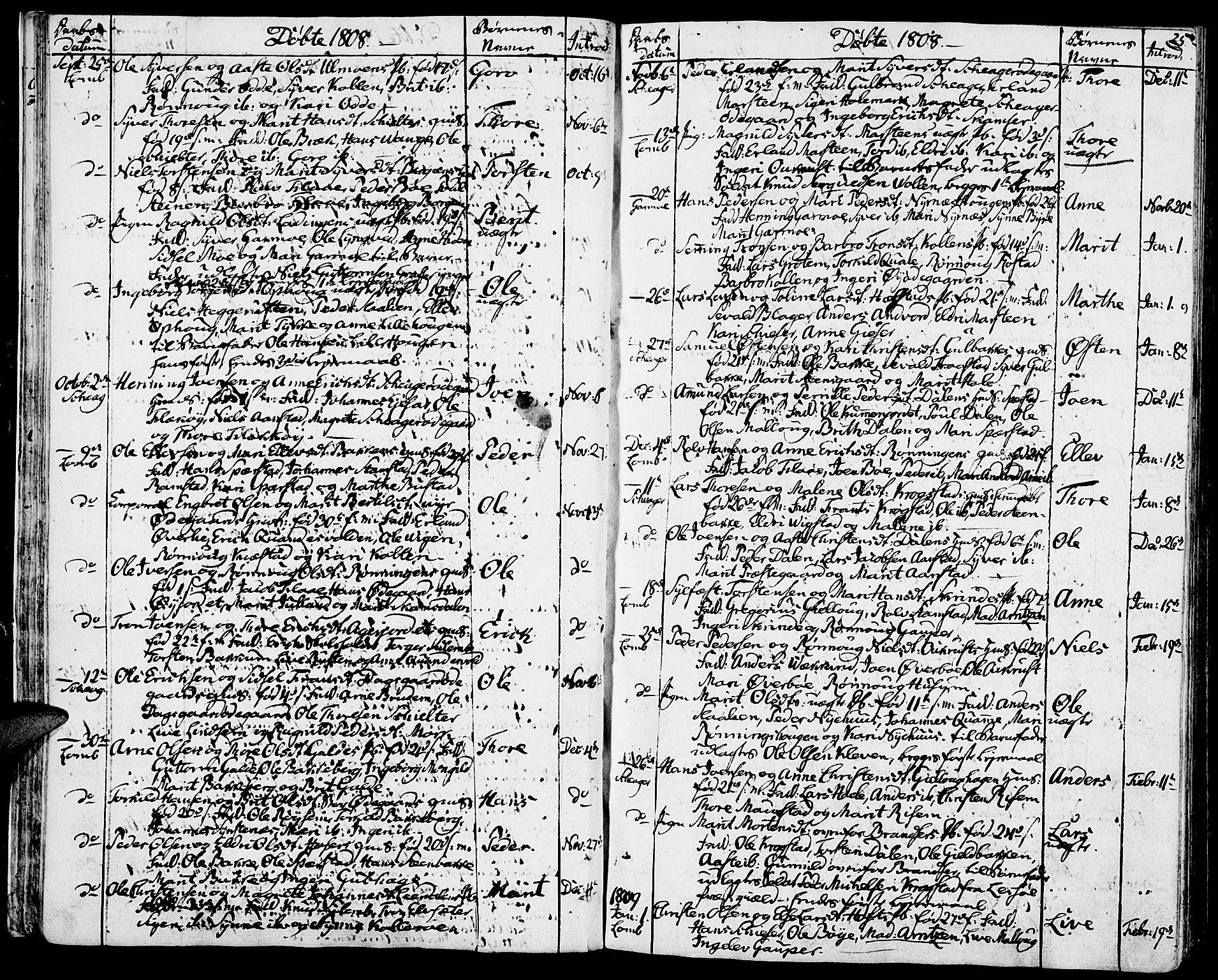 SAH, Lom prestekontor, K/L0003: Ministerialbok nr. 3, 1801-1825, s. 25