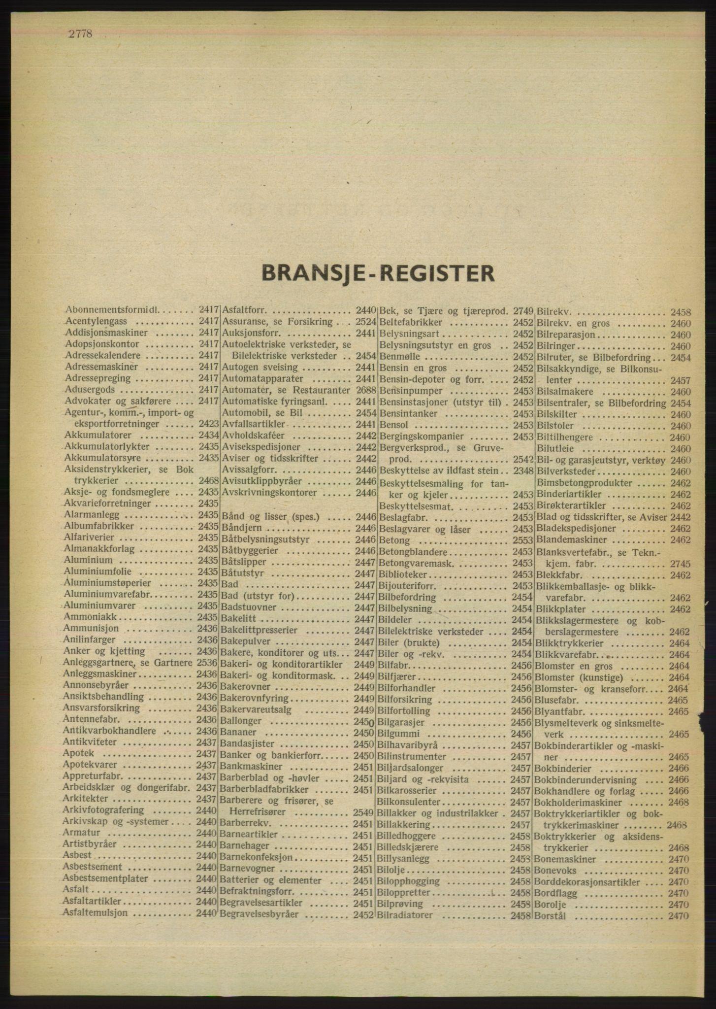 PUBL, Kristiania/Oslo adressebok, 1949, s. 2778