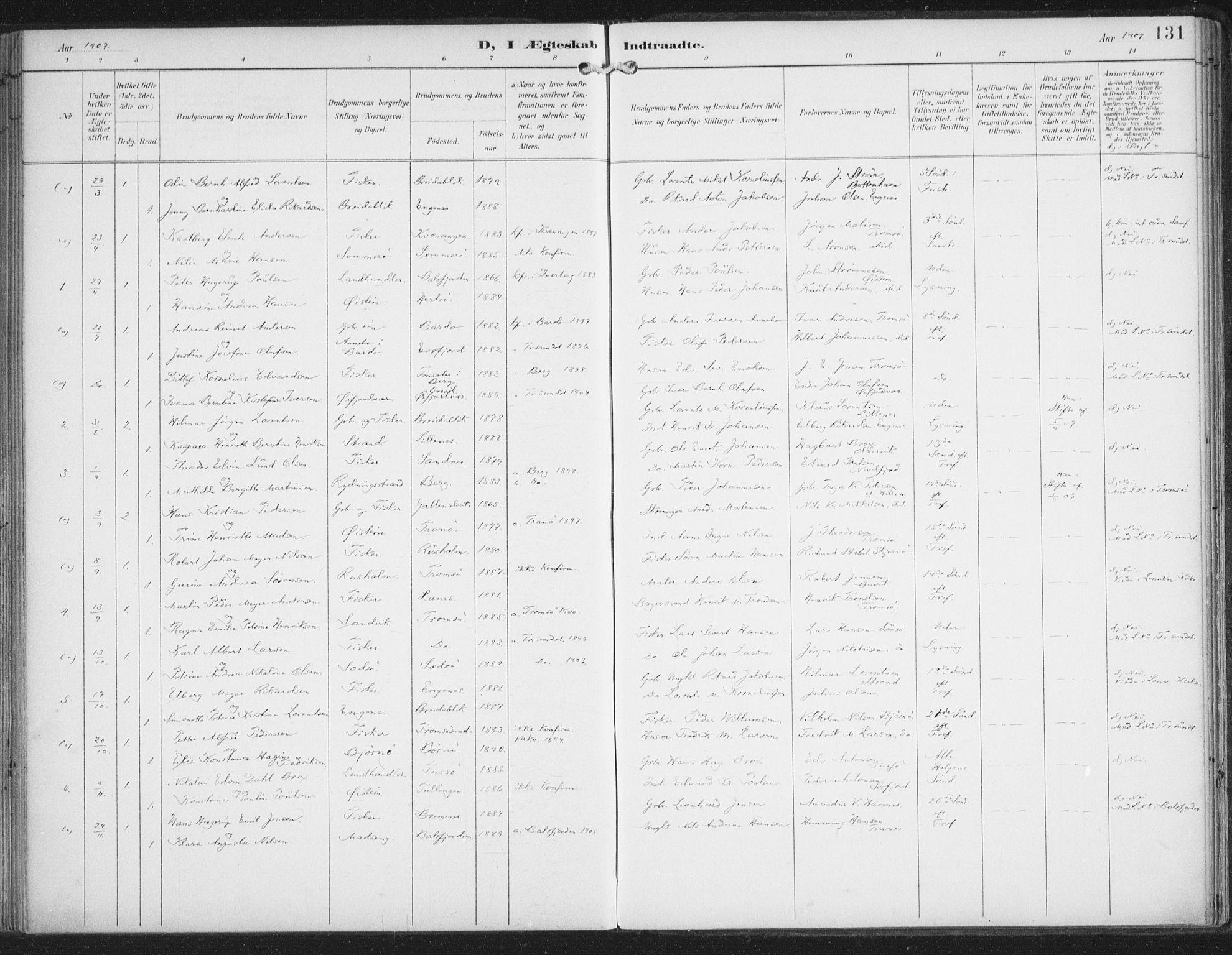 SATØ, Lenvik sokneprestembete, H/Ha/Haa/L0015kirke: Ministerialbok nr. 15, 1896-1915, s. 131