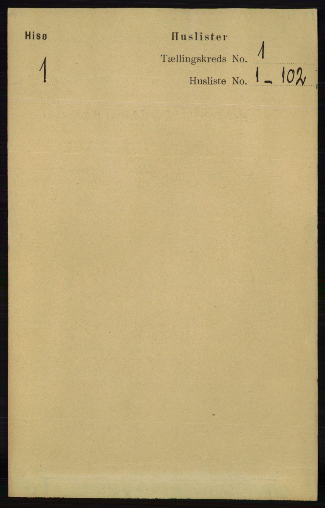 RA, Folketelling 1891 for 0922 Hisøy herred, 1891, s. 18
