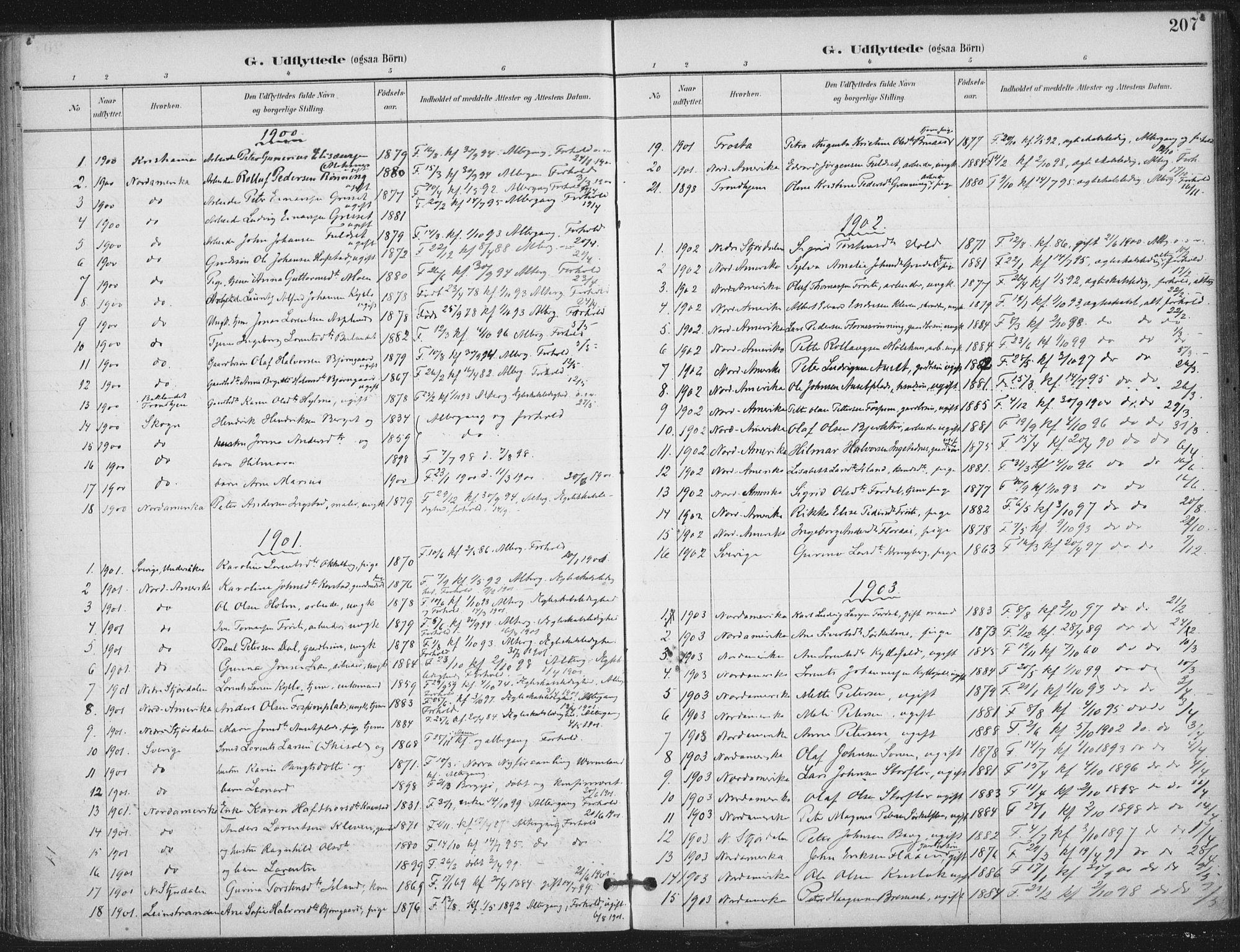 SAT, Ministerialprotokoller, klokkerbøker og fødselsregistre - Nord-Trøndelag, 703/L0031: Ministerialbok nr. 703A04, 1893-1914, s. 207