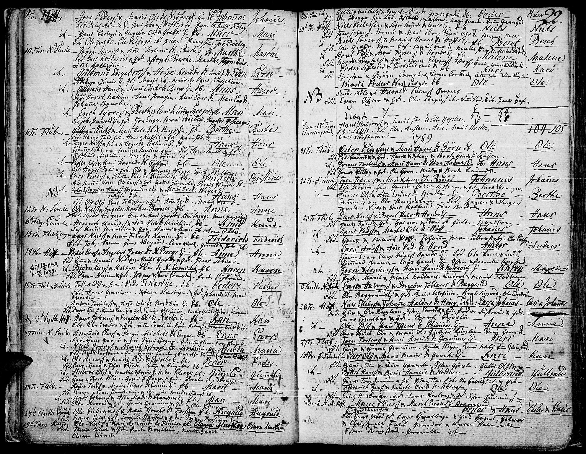 SAH, Land prestekontor, Ministerialbok nr. 6, 1784-1813, s. 22
