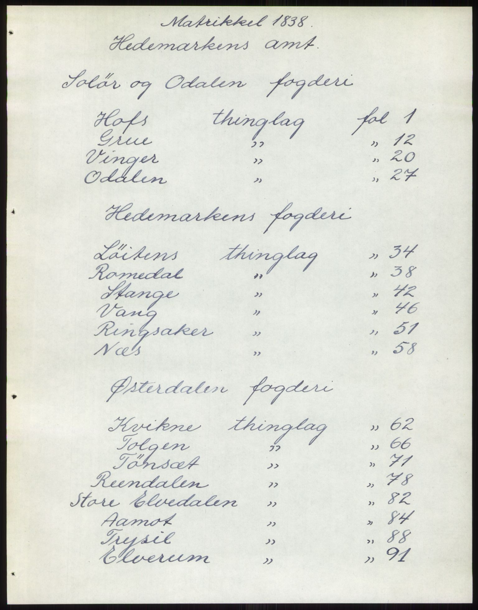 PUBL, Andre publikasjoner, -/Bind 3: Hedemarkens amt, 1838, s. 1