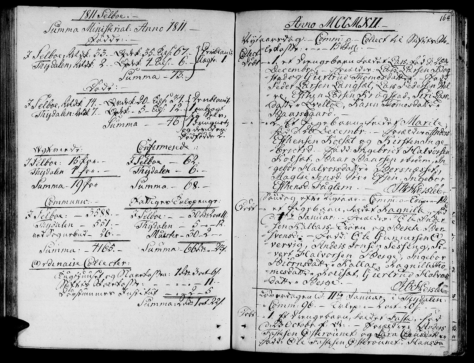 SAT, Ministerialprotokoller, klokkerbøker og fødselsregistre - Sør-Trøndelag, 695/L1140: Ministerialbok nr. 695A03, 1801-1815, s. 164