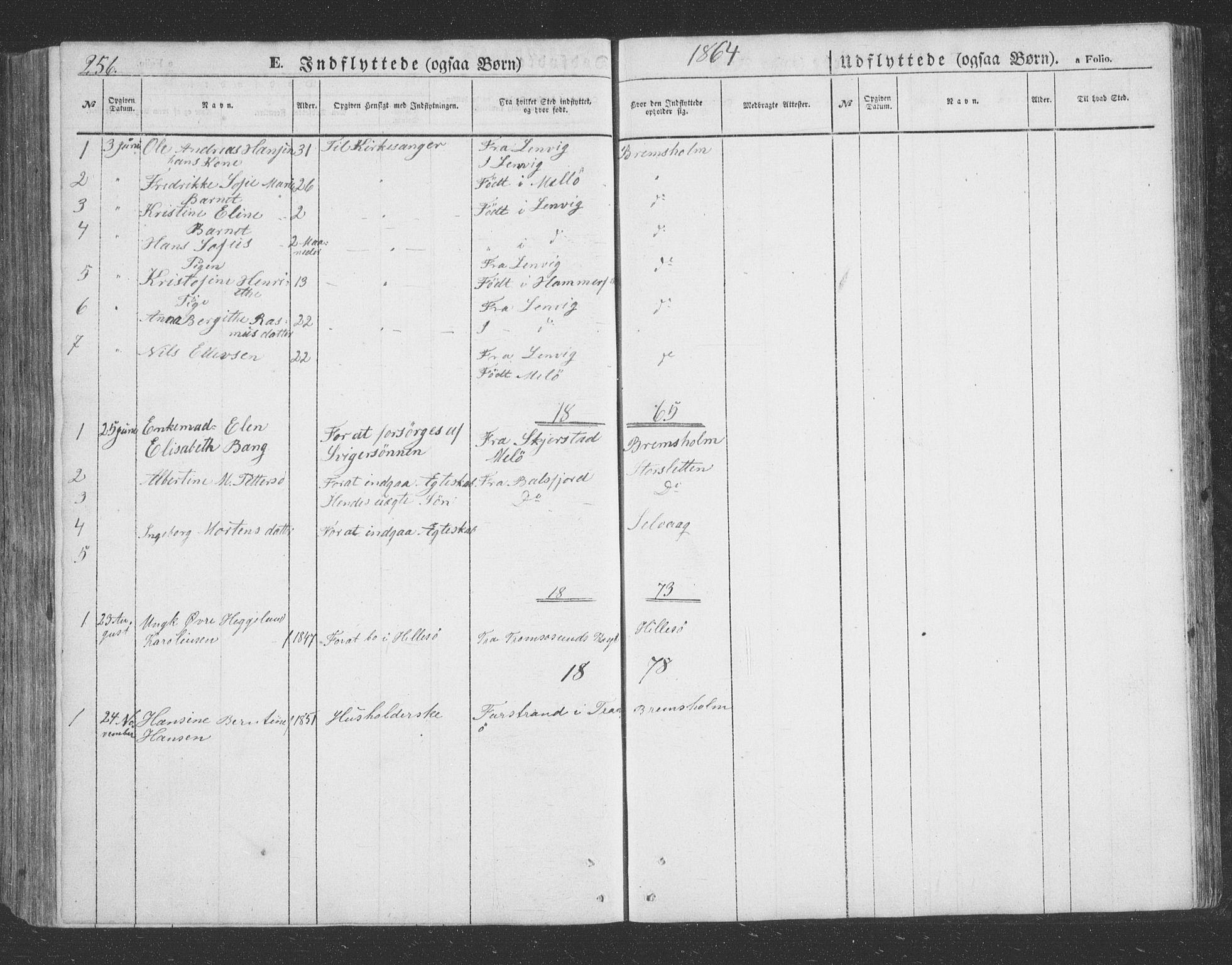 SATØ, Lenvik sokneprestembete, H/Ha: Klokkerbok nr. 20, 1855-1883, s. 256