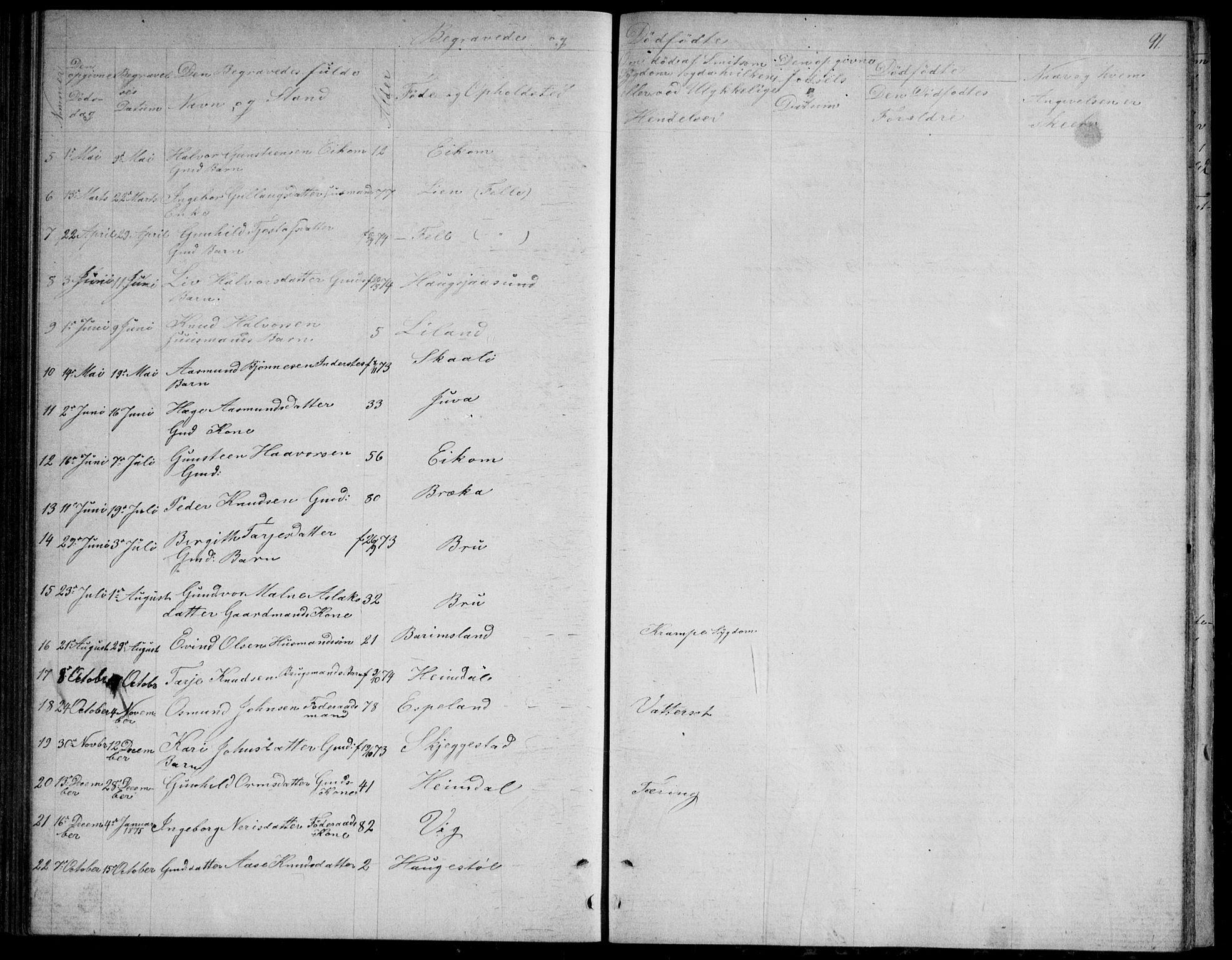 SAKO, Nissedal kirkebøker, G/Gb/L0002: Klokkerbok nr. II 2, 1863-1892, s. 91
