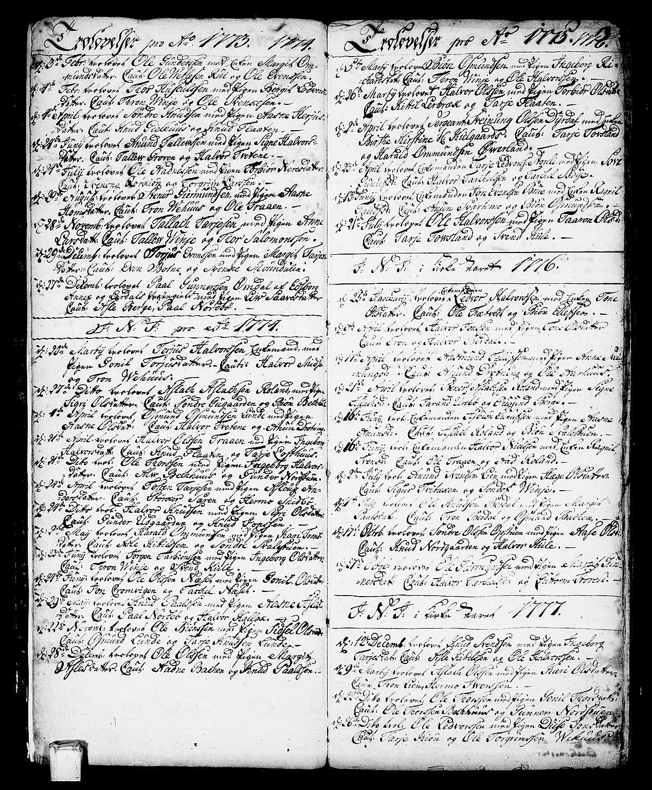 SAKO, Vinje kirkebøker, F/Fa/L0002: Ministerialbok nr. I 2, 1767-1814, s. 3