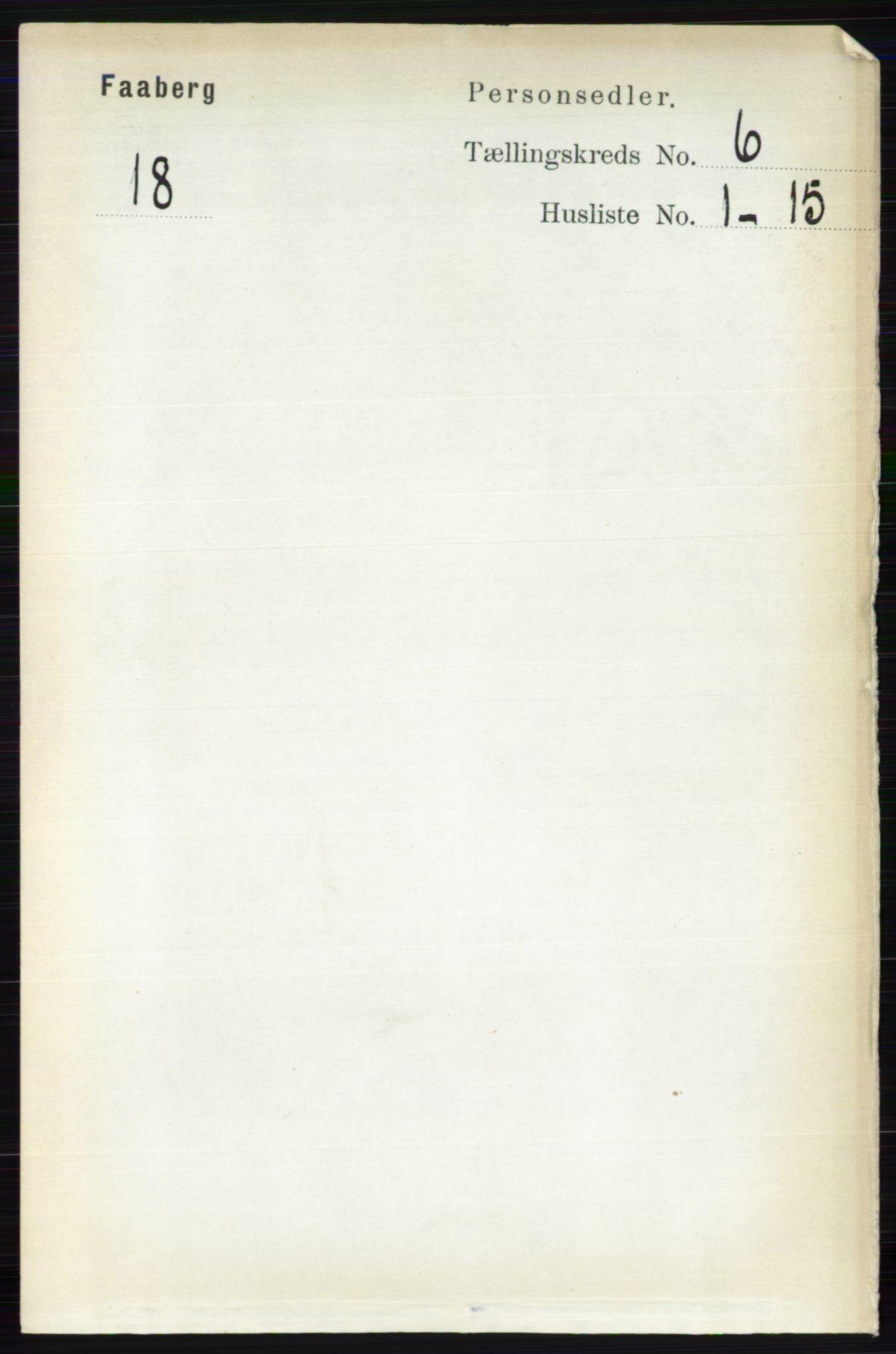 RA, Folketelling 1891 for 0524 Fåberg herred, 1891, s. 2218