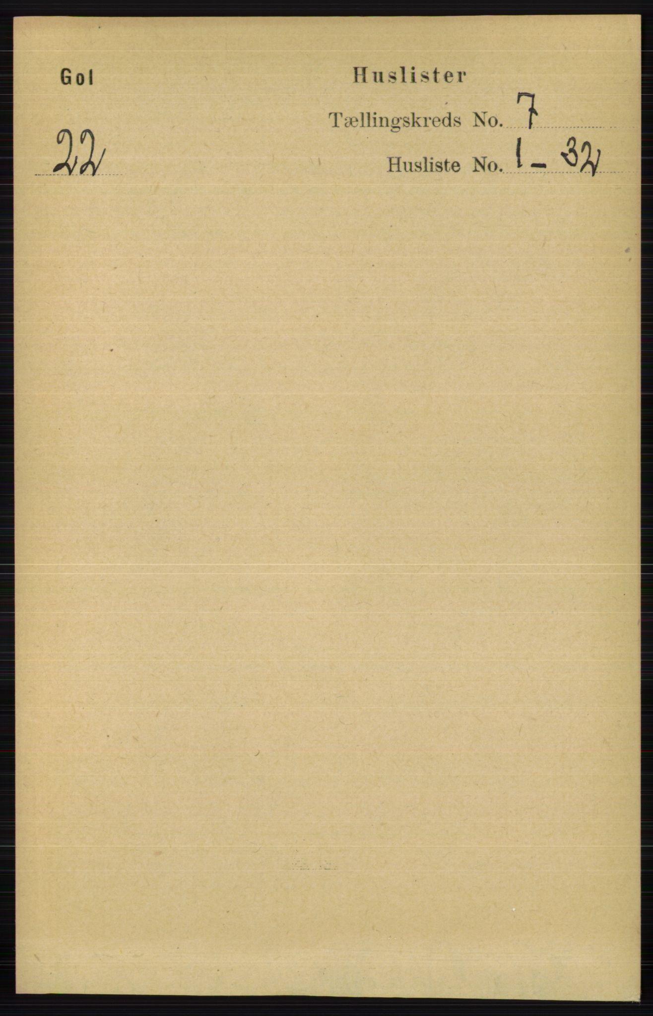 RA, Folketelling 1891 for 0617 Gol og Hemsedal herred, 1891, s. 2771