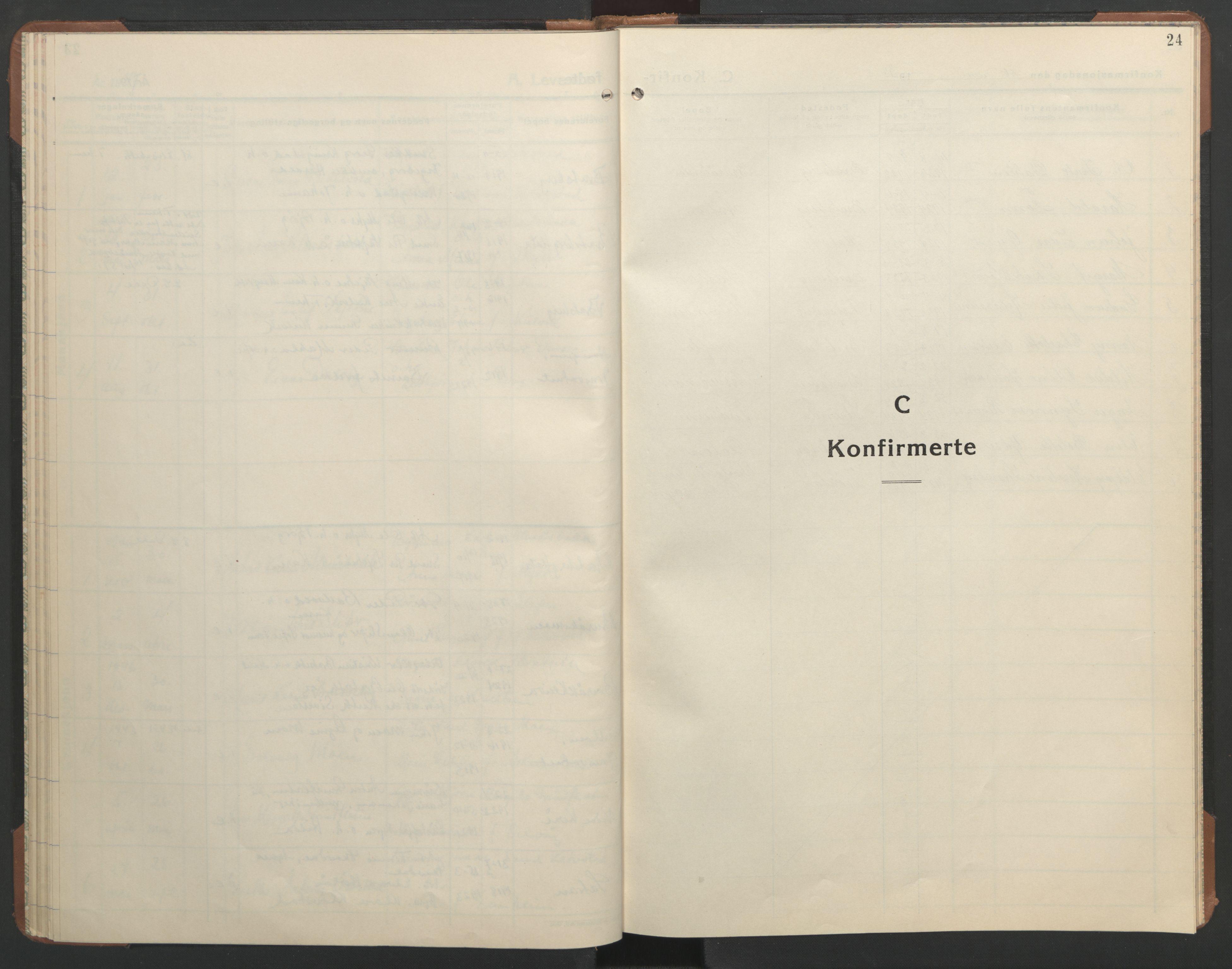 SAT, Ministerialprotokoller, klokkerbøker og fødselsregistre - Sør-Trøndelag, 608/L0343: Klokkerbok nr. 608C09, 1938-1952, s. 24