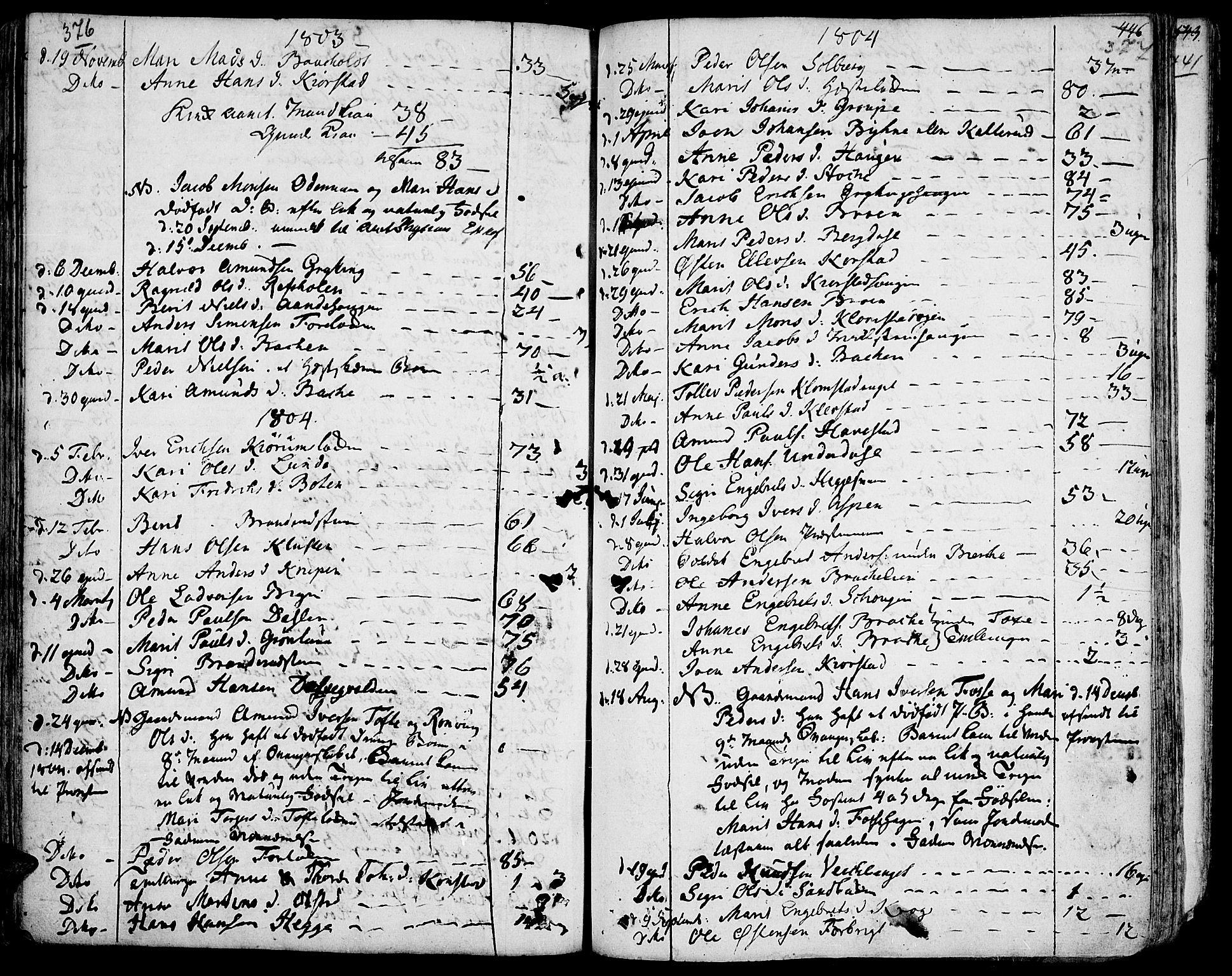 SAH, Fron prestekontor, H/Ha/Haa/L0001: Ministerialbok nr. 1, 1799-1816, s. 376-377