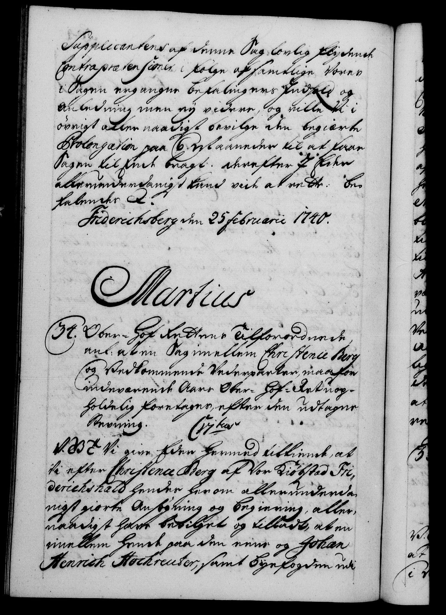 RA, Danske Kanselli 1572-1799, F/Fc/Fca/Fcab/L0028: Norske tegnelser, 1738-1740, s. 504b