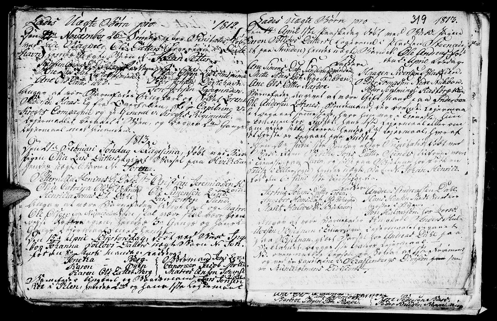 SAT, Ministerialprotokoller, klokkerbøker og fødselsregistre - Sør-Trøndelag, 606/L0305: Klokkerbok nr. 606C01, 1757-1819, s. 319