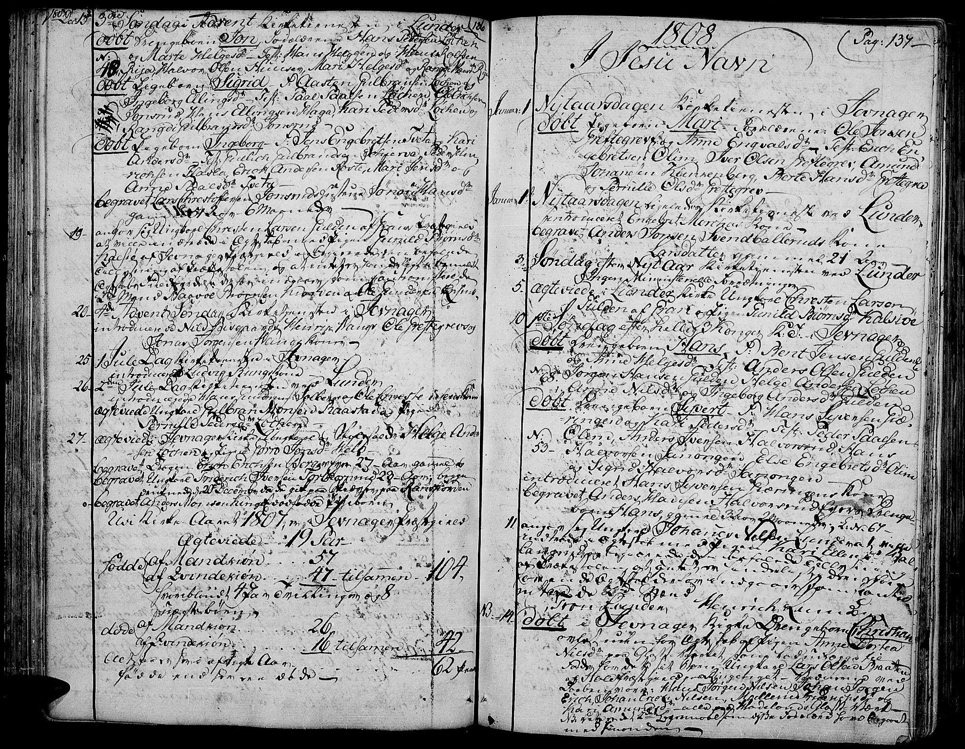 SAH, Jevnaker prestekontor, Ministerialbok nr. 4, 1800-1861, s. 136-137