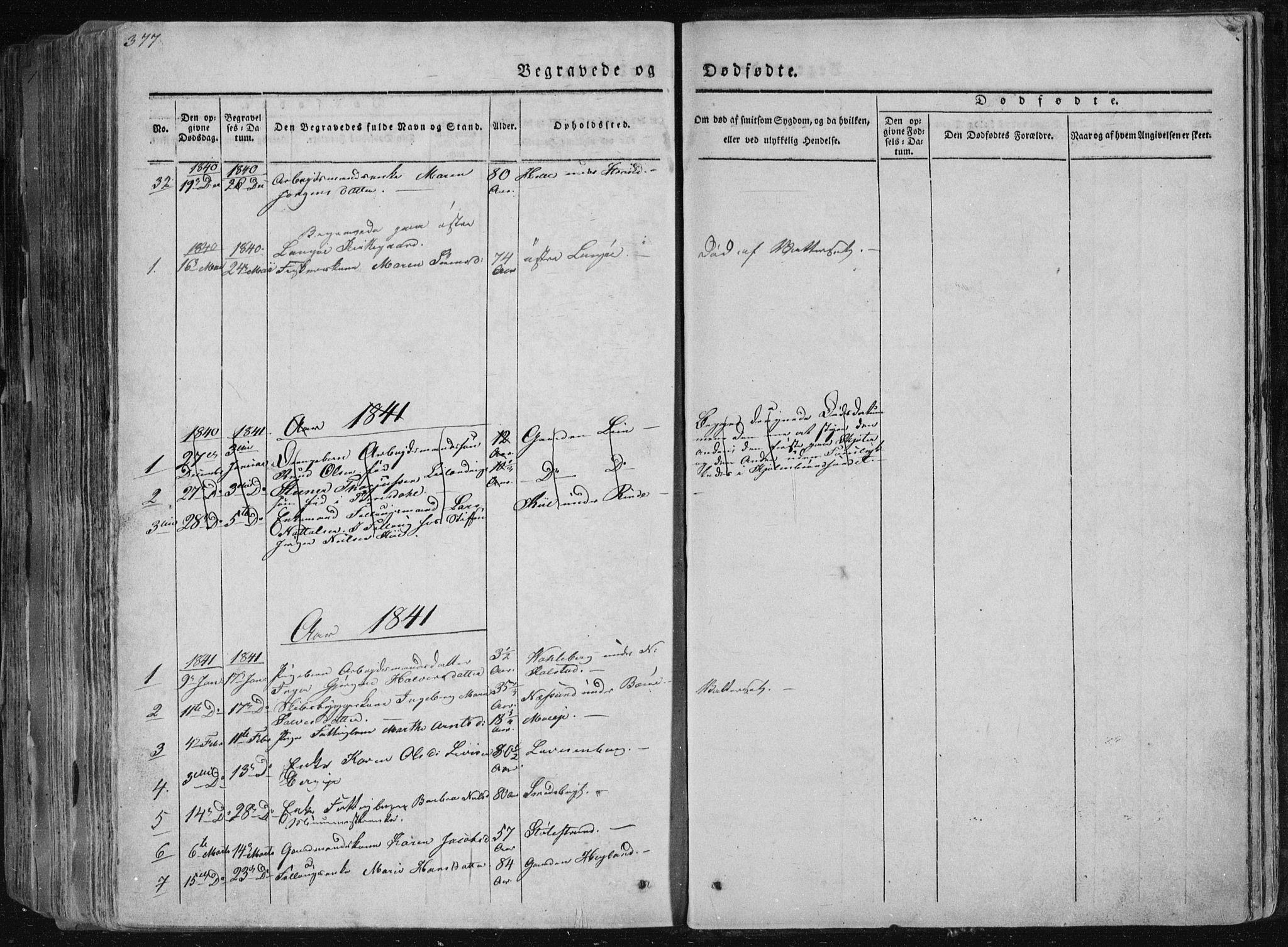 SAKO, Sannidal kirkebøker, F/Fa/L0006: Ministerialbok nr. 6, 1831-1847, s. 377