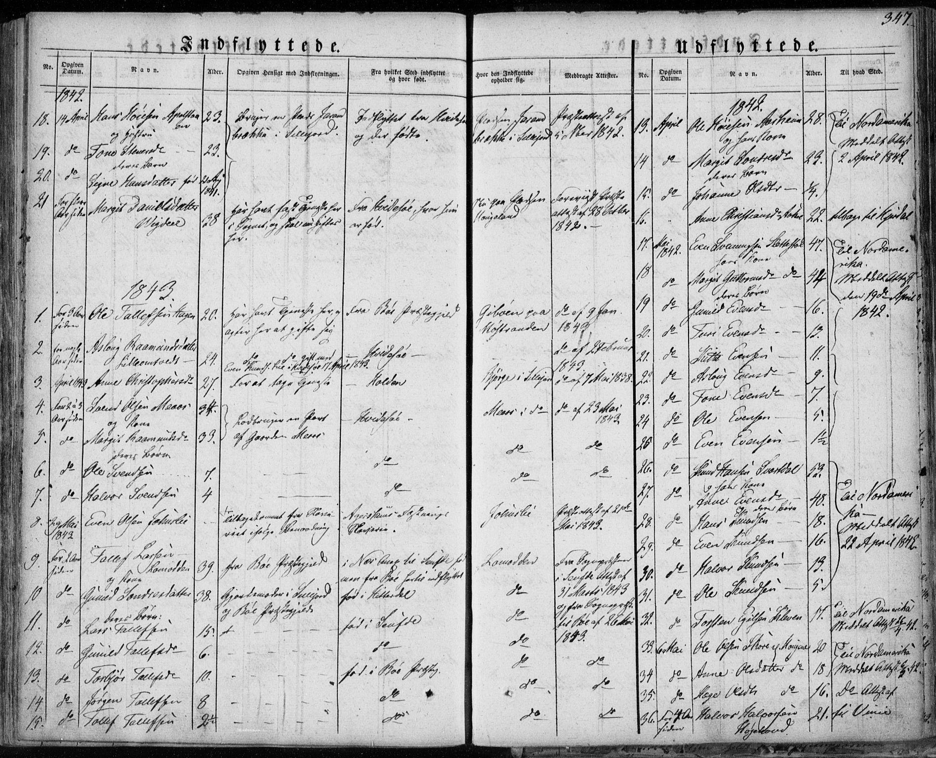 SAKO, Seljord kirkebøker, F/Fa/L0011: Ministerialbok nr. I 11, 1831-1849, s. 347