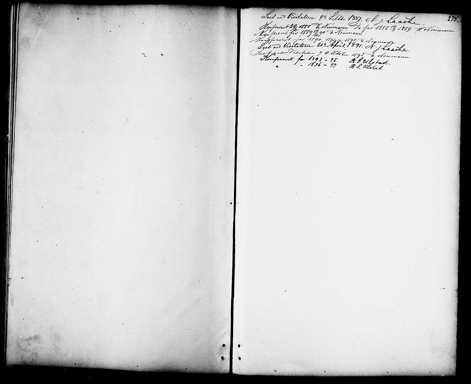 SAT, Ministerialprotokoller, klokkerbøker og fødselsregistre - Sør-Trøndelag, 694/L1132: Klokkerbok nr. 694C04, 1887-1914, s. 275