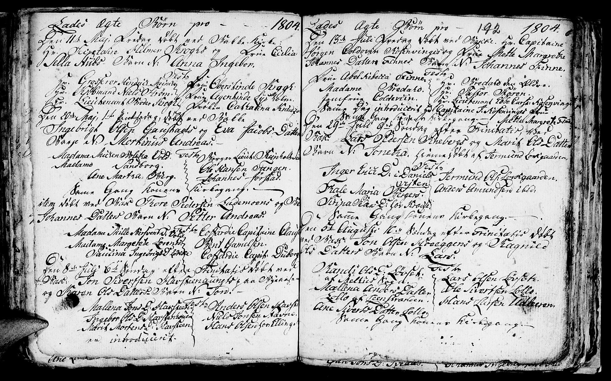 SAT, Ministerialprotokoller, klokkerbøker og fødselsregistre - Sør-Trøndelag, 606/L0305: Klokkerbok nr. 606C01, 1757-1819, s. 192