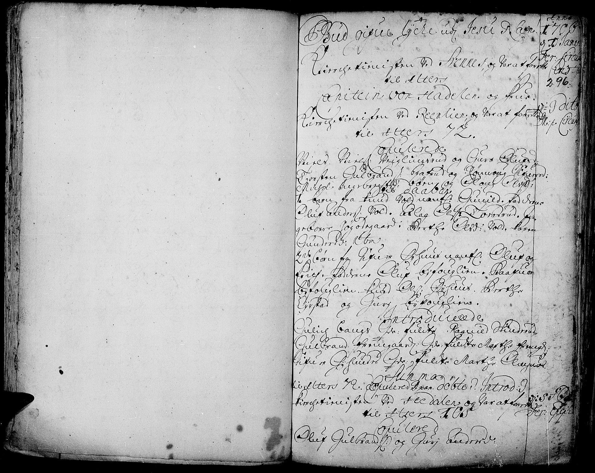 SAH, Aurdal prestekontor, Ministerialbok nr. 1-3, 1692-1730, s. 296