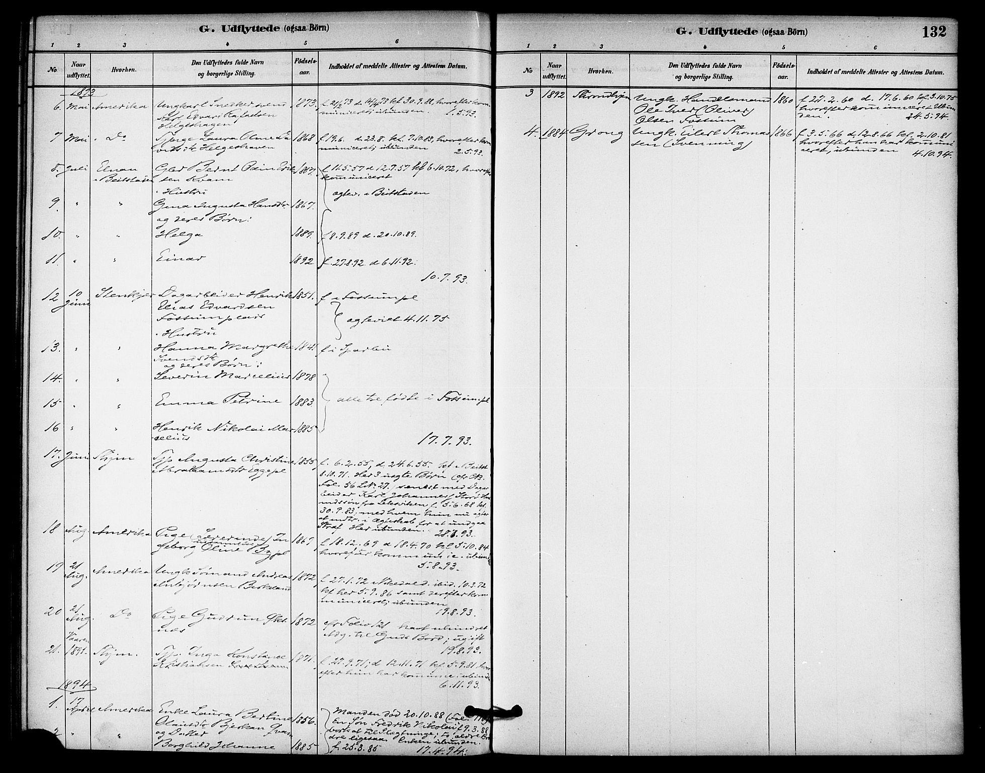 SAT, Ministerialprotokoller, klokkerbøker og fødselsregistre - Nord-Trøndelag, 740/L0378: Ministerialbok nr. 740A01, 1881-1895, s. 132