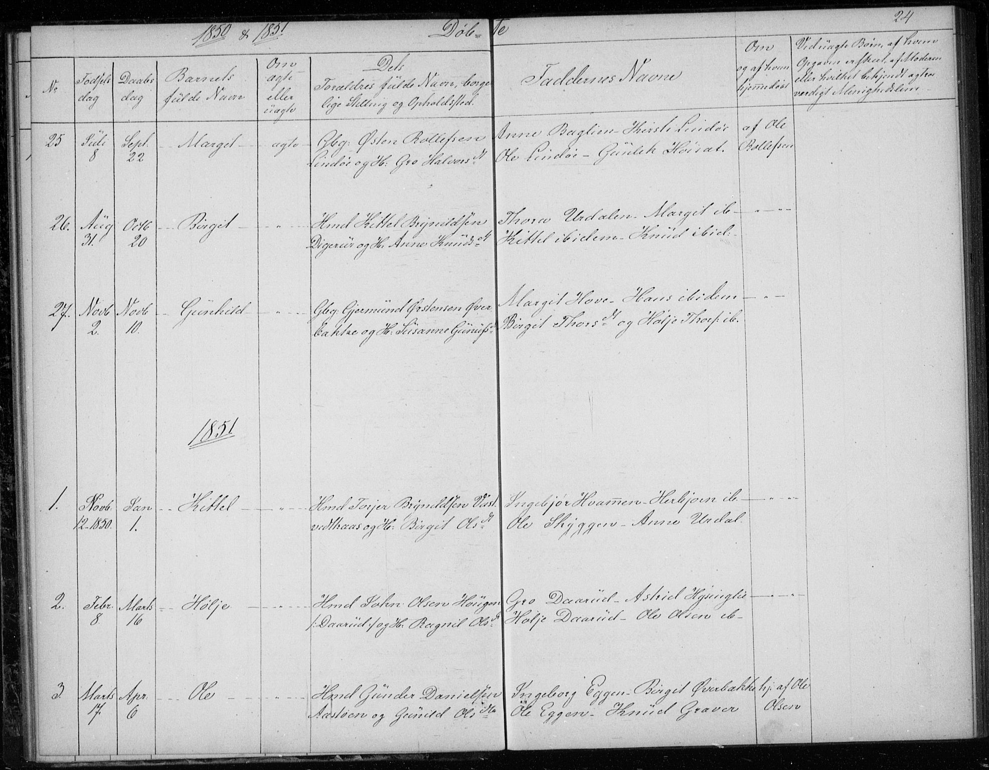 SAKO, Gransherad kirkebøker, F/Fb/L0003: Ministerialbok nr. II 3, 1844-1859, s. 24
