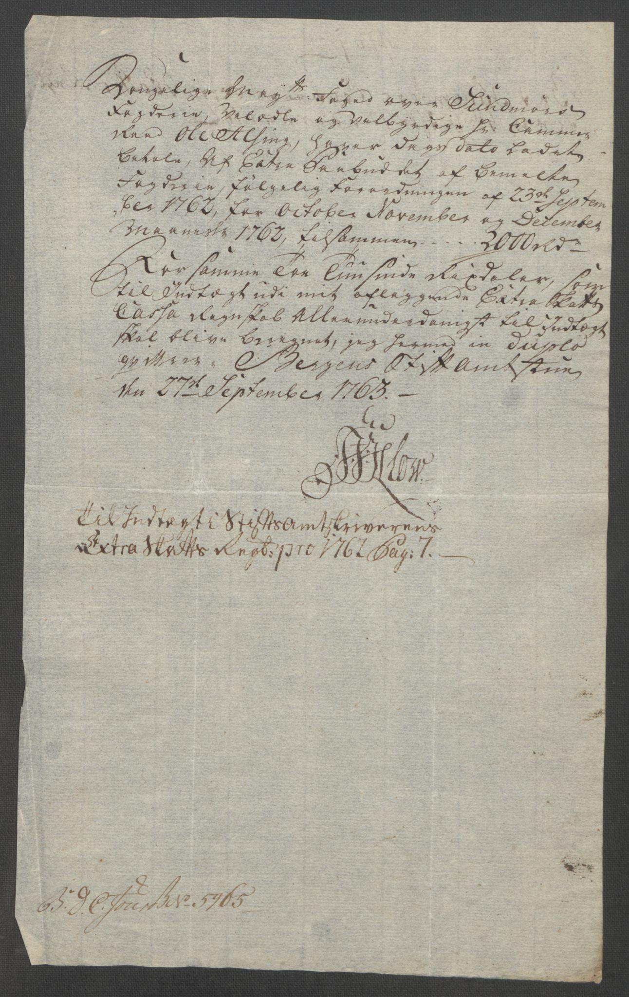 RA, Rentekammeret inntil 1814, Reviderte regnskaper, Fogderegnskap, R54/L3645: Ekstraskatten Sunnmøre, 1762-1772, s. 12