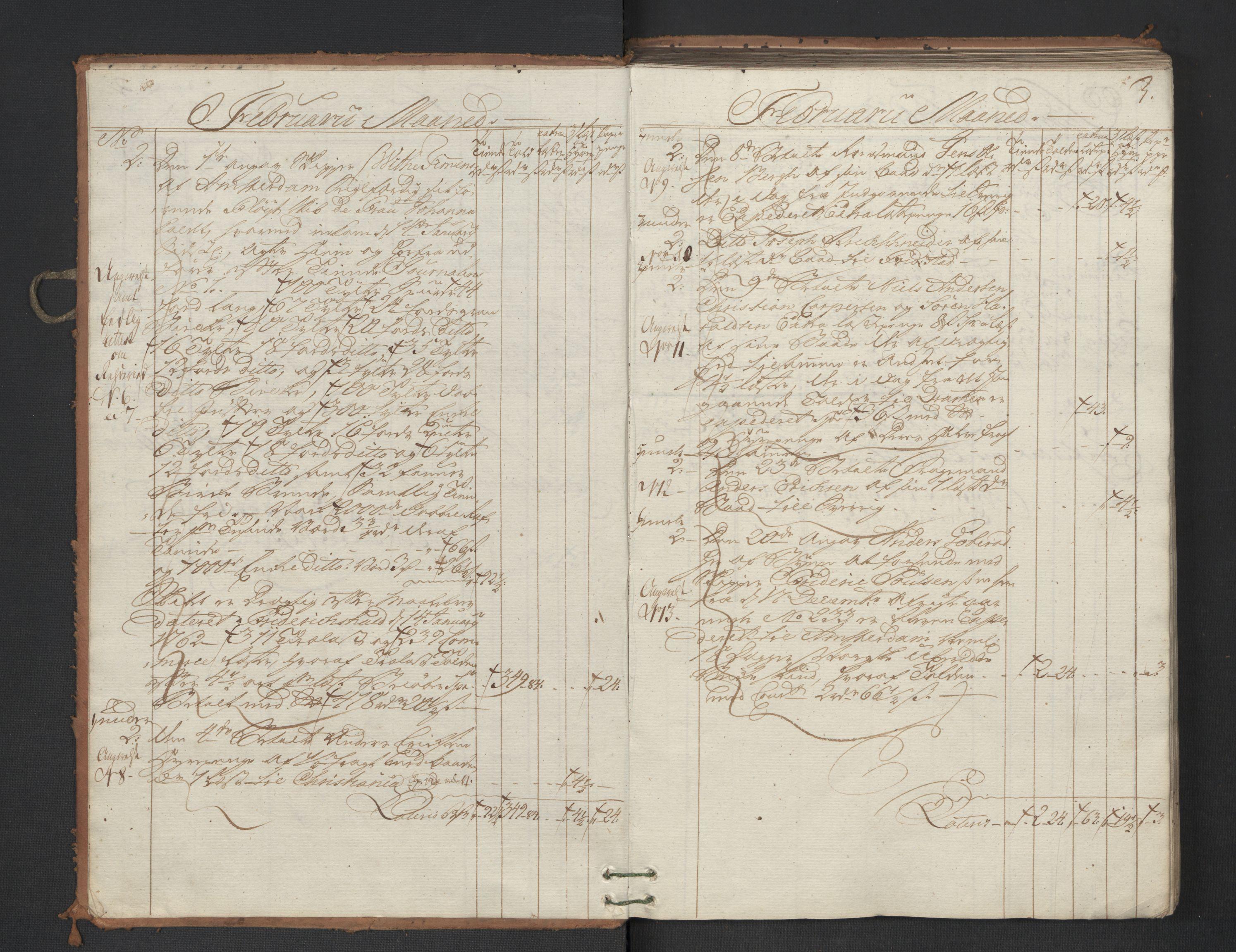 RA, Generaltollkammeret, tollregnskaper, R01/L0047: Tollregnskaper Fredrikshald, 1762, s. 2b-3a