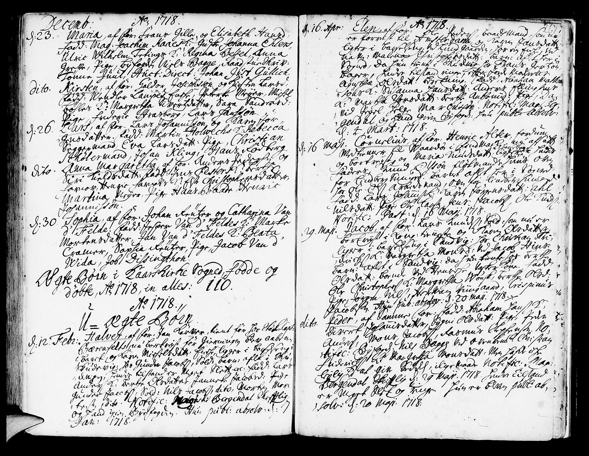 SAB, Korskirken Sokneprestembete, H/Haa/L0003: Ministerialbok nr. A 3, 1698-1719, s. 267