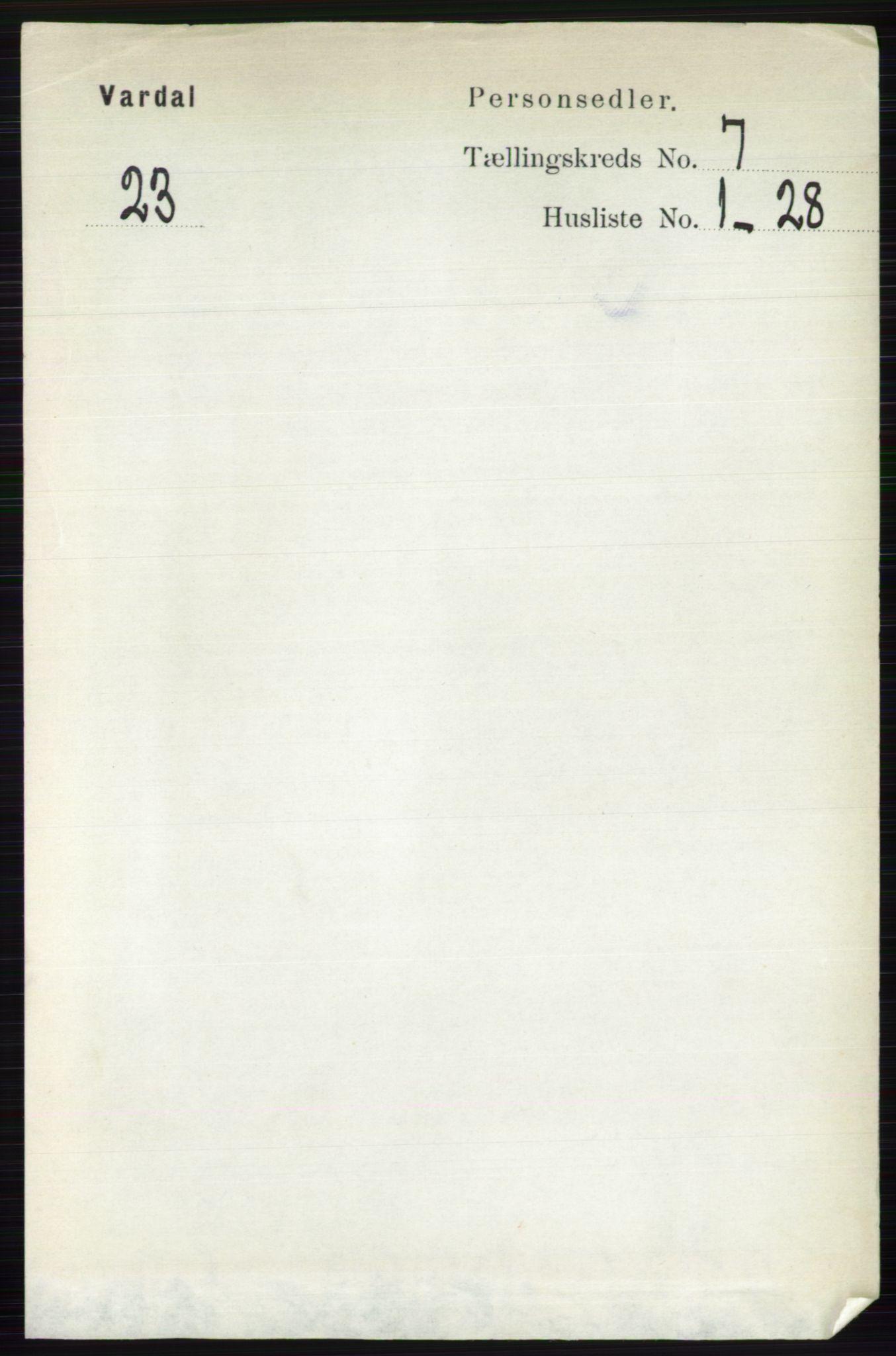 RA, Folketelling 1891 for 0527 Vardal herred, 1891, s. 2969