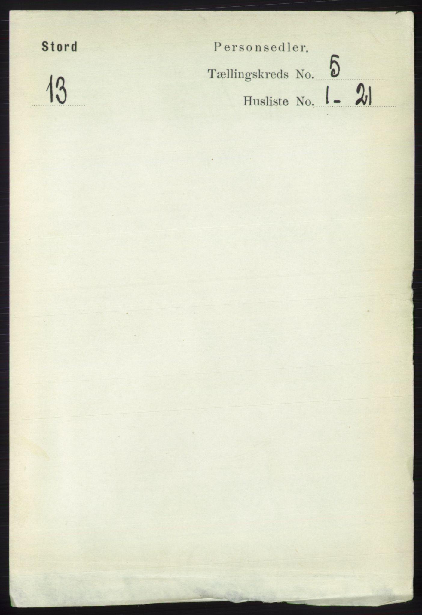 RA, Folketelling 1891 for 1221 Stord herred, 1891, s. 1655