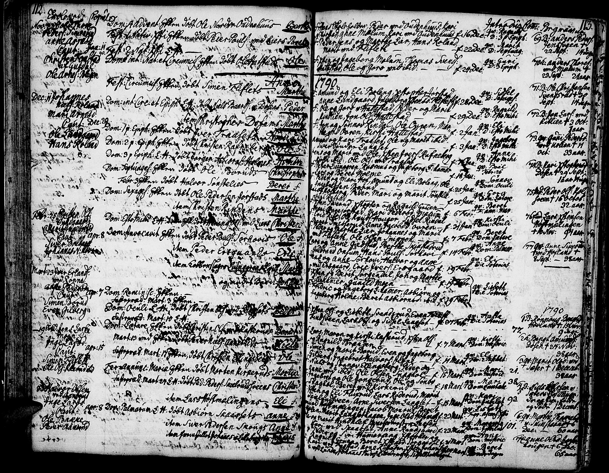 SAH, Fåberg prestekontor, Ministerialbok nr. 2, 1775-1818, s. 112-113