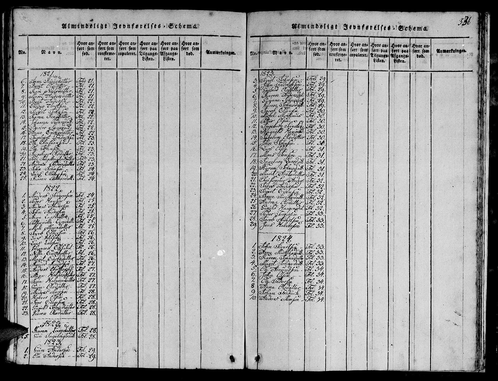 SAT, Ministerialprotokoller, klokkerbøker og fødselsregistre - Sør-Trøndelag, 613/L0393: Klokkerbok nr. 613C01, 1816-1886, s. 386