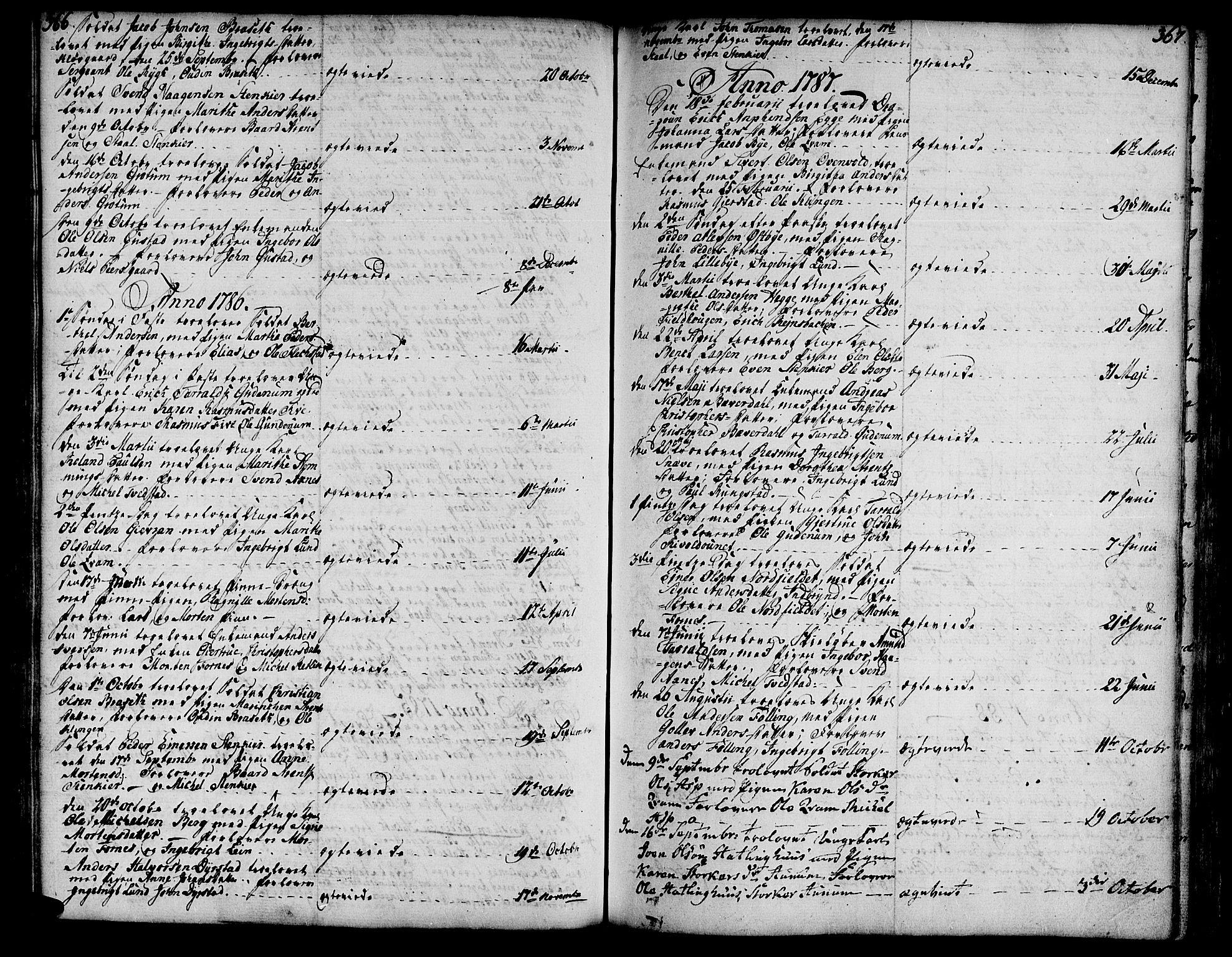 SAT, Ministerialprotokoller, klokkerbøker og fødselsregistre - Nord-Trøndelag, 746/L0440: Ministerialbok nr. 746A02, 1760-1815, s. 366-367