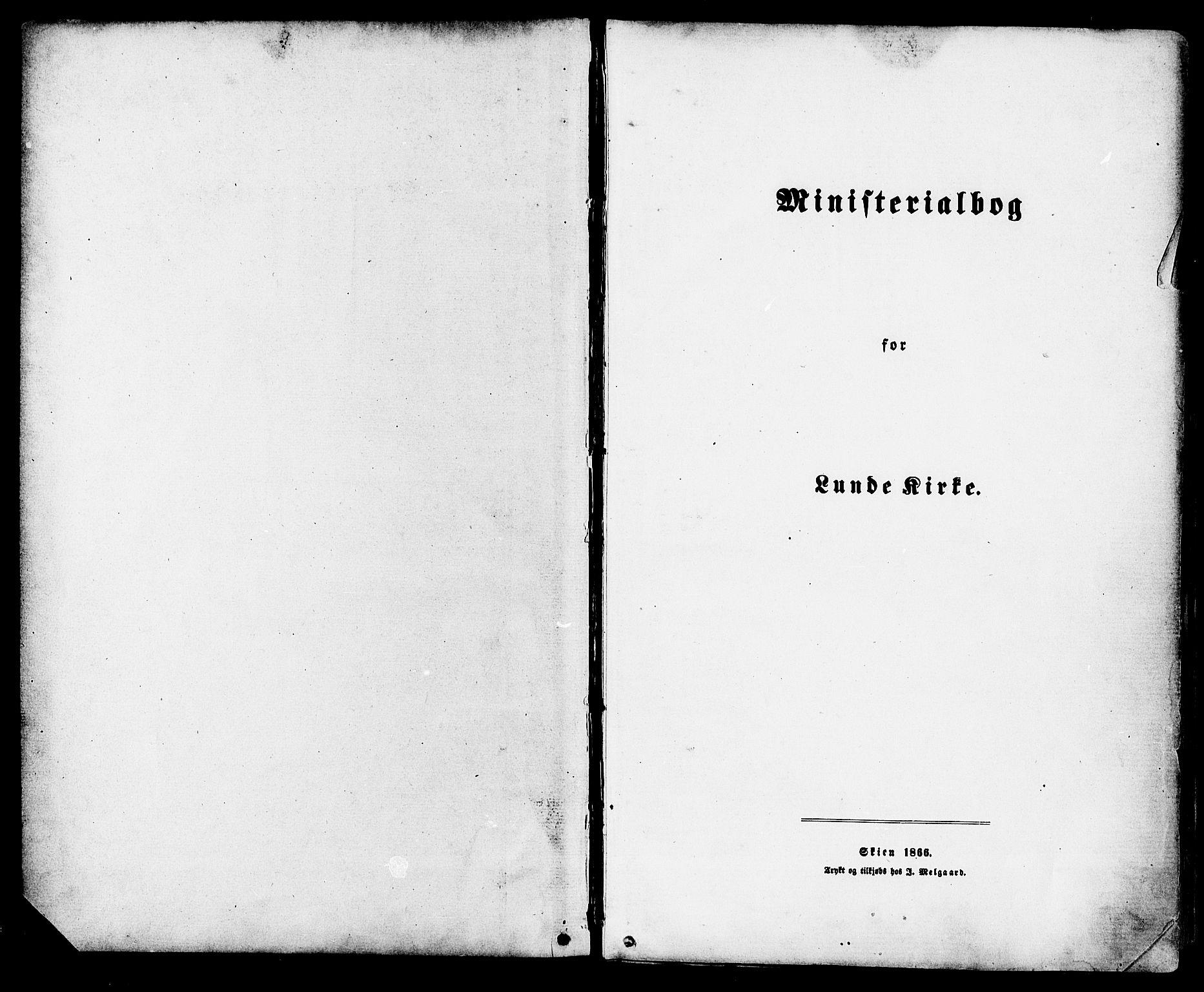 SAKO, Lunde kirkebøker, F/Fa/L0001: Ministerialbok nr. I 1, 1866-1883