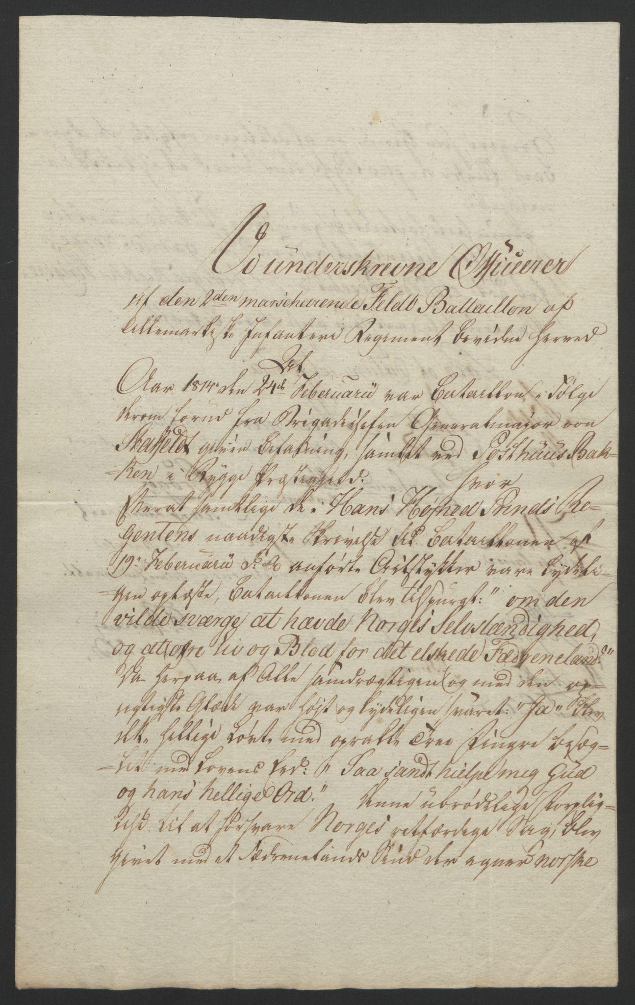 RA, Statsrådssekretariatet, D/Db/L0007: Fullmakter for Eidsvollsrepresentantene i 1814. , 1814, s. 99