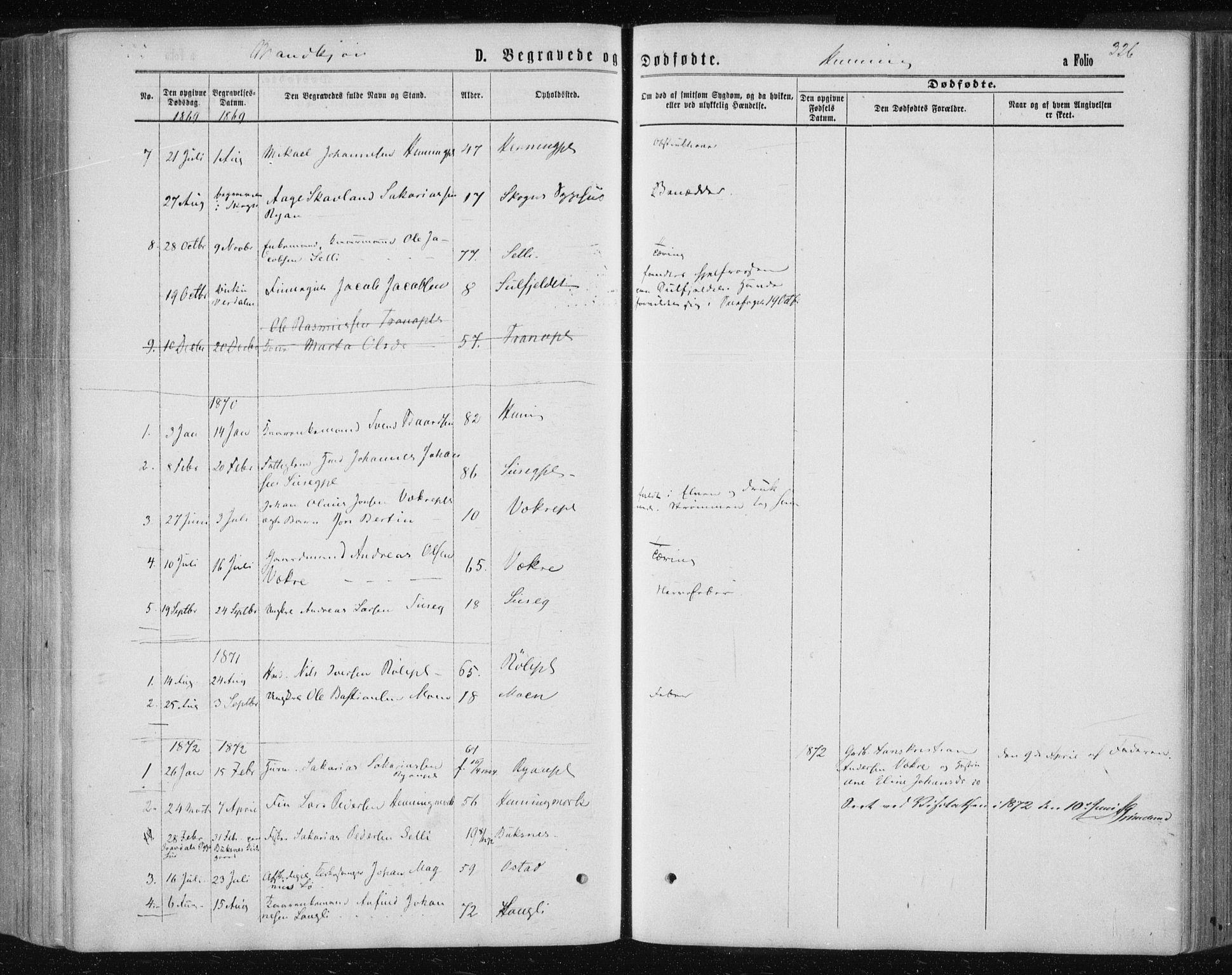 SAT, Ministerialprotokoller, klokkerbøker og fødselsregistre - Nord-Trøndelag, 735/L0345: Ministerialbok nr. 735A08 /3, 1863-1872, s. 326