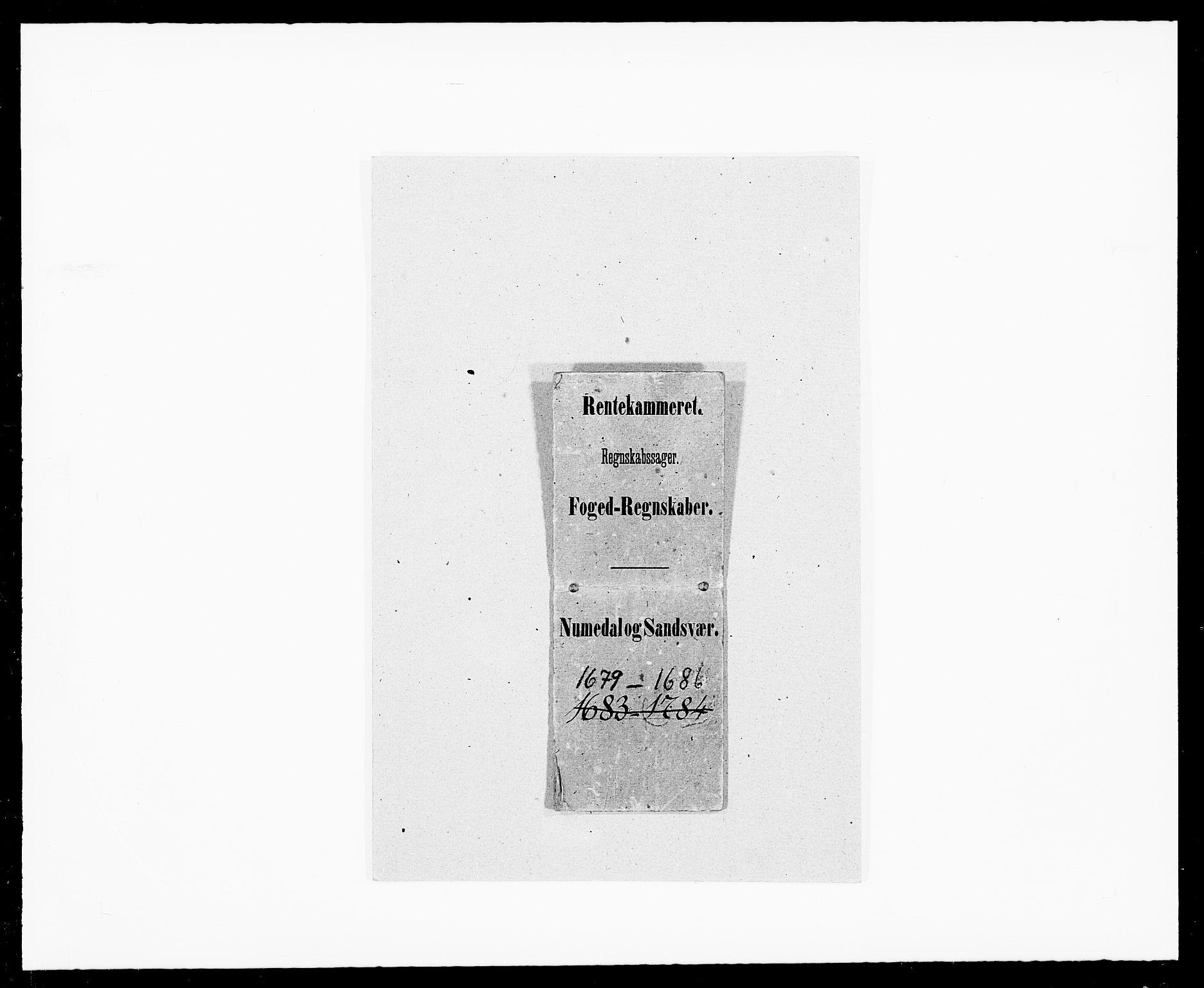 RA, Rentekammeret inntil 1814, Reviderte regnskaper, Fogderegnskap, R24/L1571: Fogderegnskap Numedal og Sandsvær, 1679-1686, s. 385