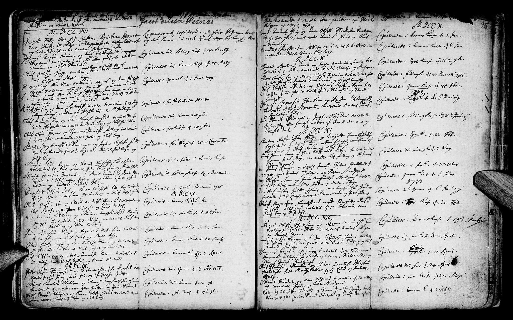 SAT, Ministerialprotokoller, klokkerbøker og fødselsregistre - Nord-Trøndelag, 746/L0439: Ministerialbok nr. 746A01, 1688-1759, s. 95