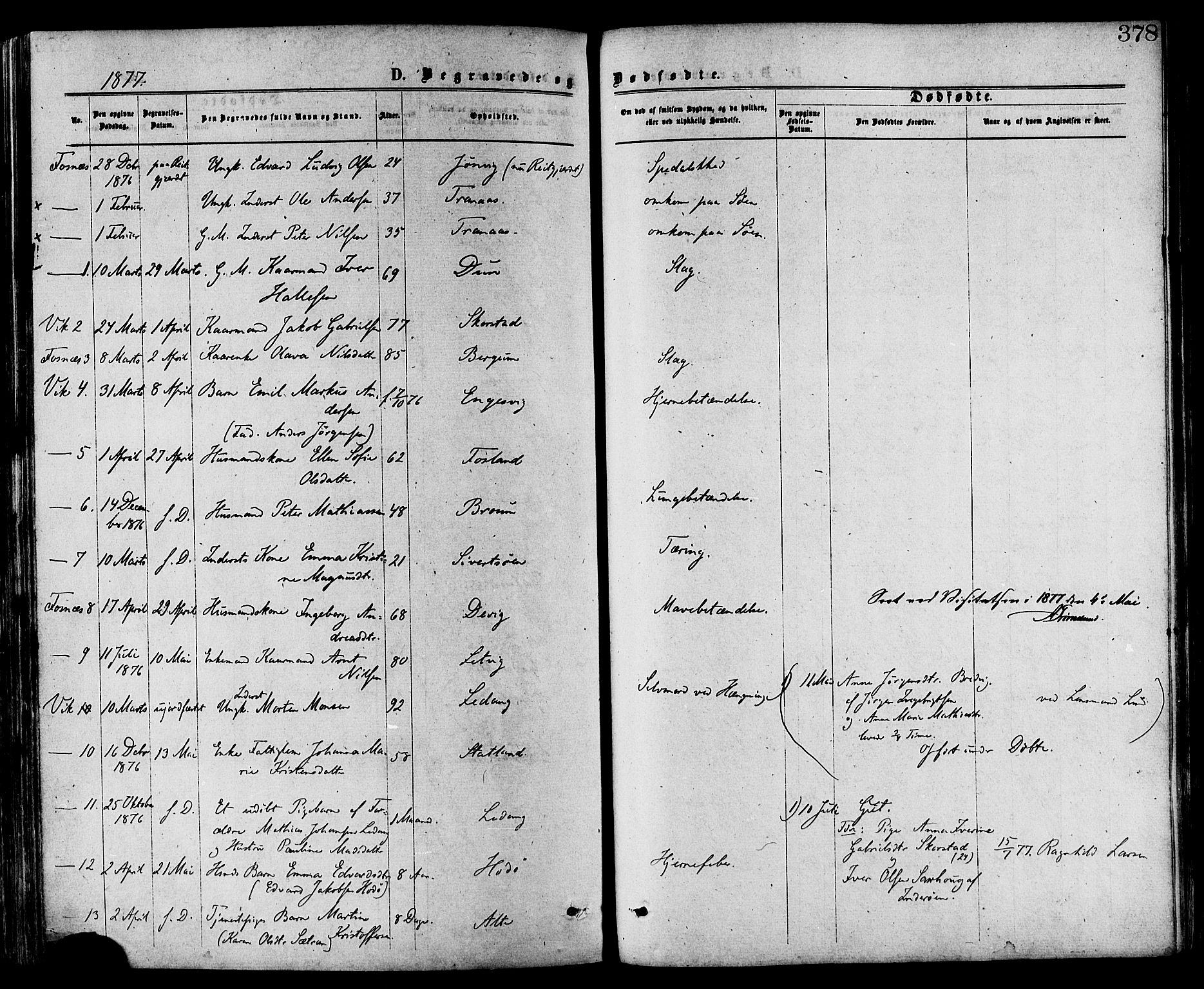 SAT, Ministerialprotokoller, klokkerbøker og fødselsregistre - Nord-Trøndelag, 773/L0616: Ministerialbok nr. 773A07, 1870-1887, s. 378