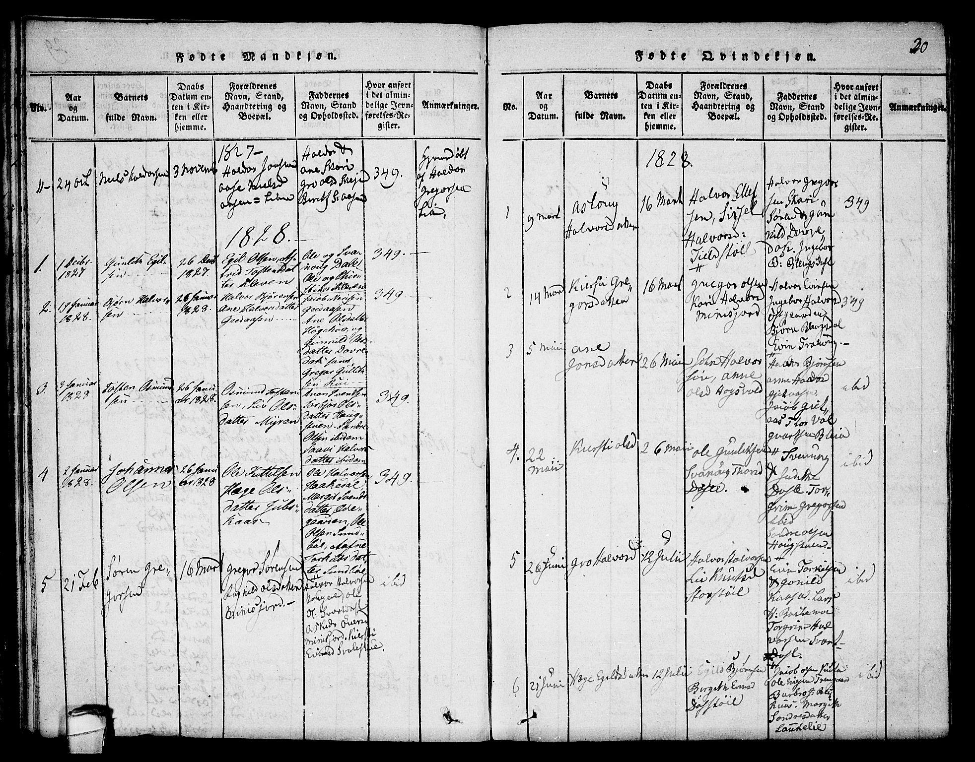 SAKO, Seljord kirkebøker, F/Fb/L0001: Ministerialbok nr. II 1, 1815-1831, s. 30