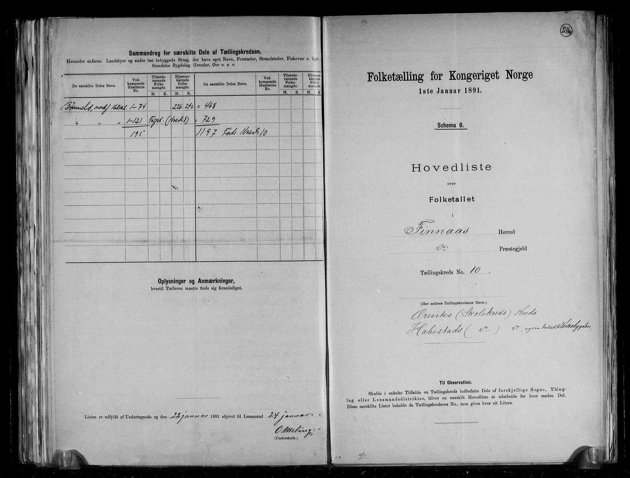 RA, Folketelling 1891 for 1218 Finnås herred, 1891, s. 24