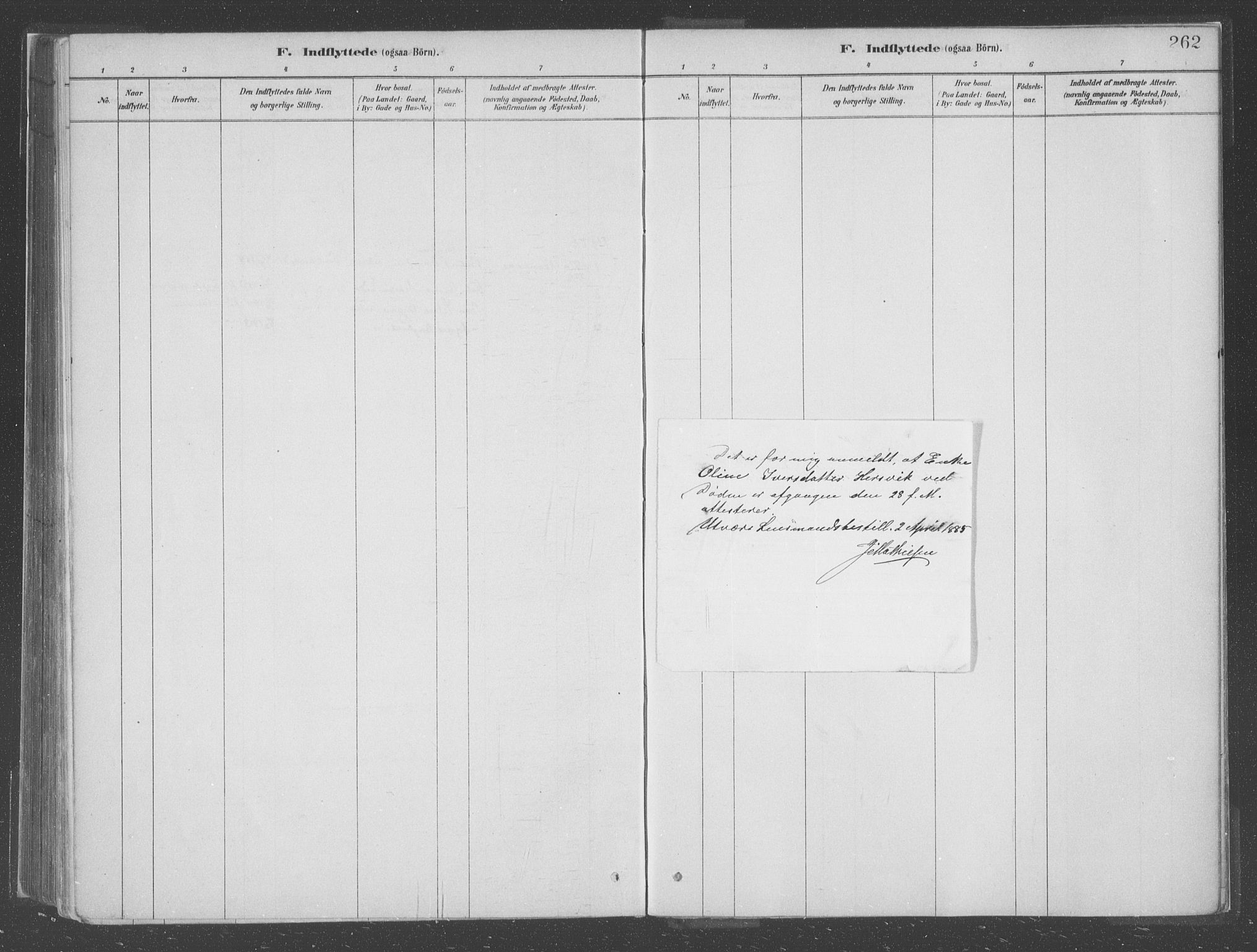 SAB, Askvoll Sokneprestembete, Ministerialbok nr. C  1, 1879-1922, s. 262