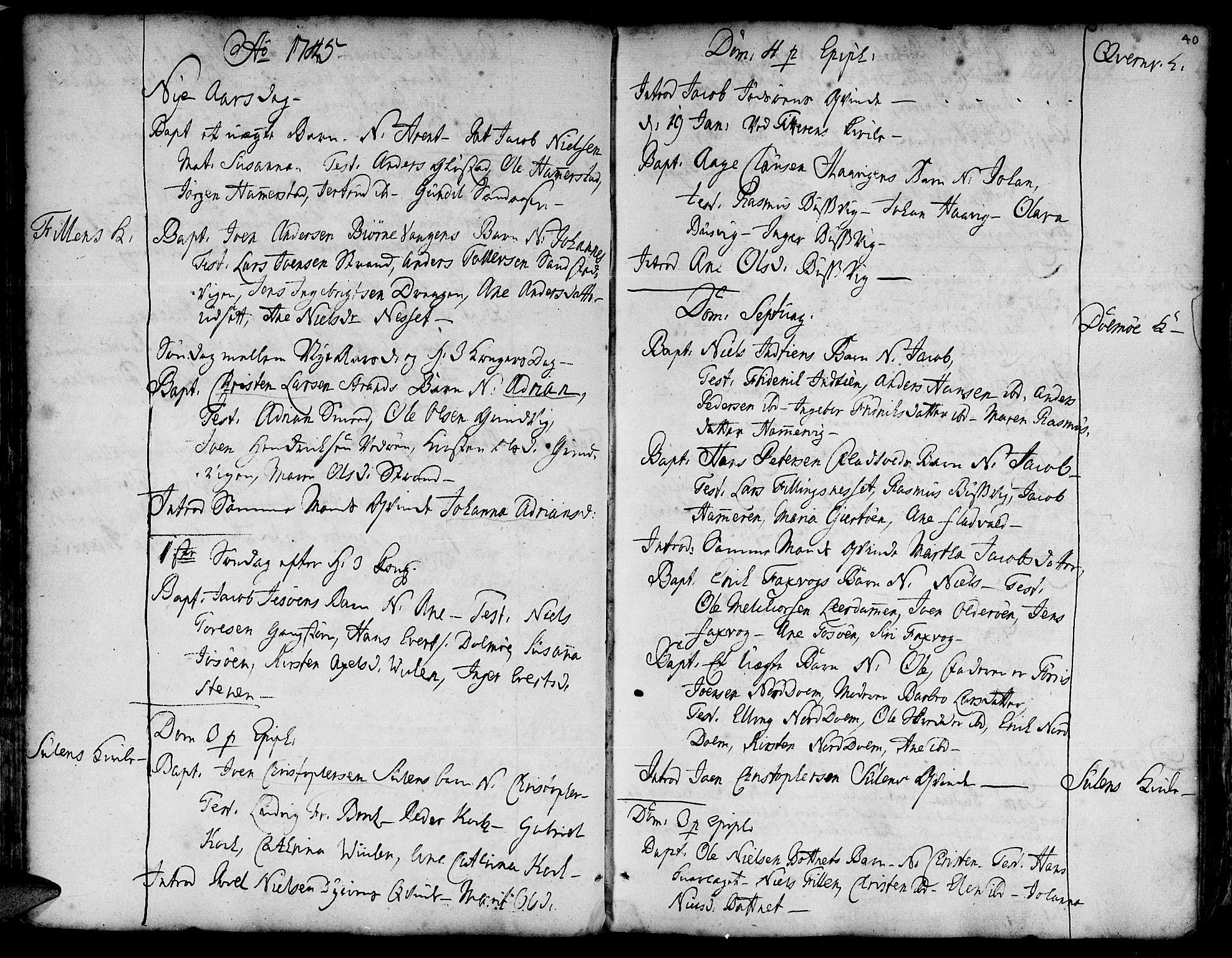 SAT, Ministerialprotokoller, klokkerbøker og fødselsregistre - Sør-Trøndelag, 634/L0525: Ministerialbok nr. 634A01, 1736-1775, s. 40