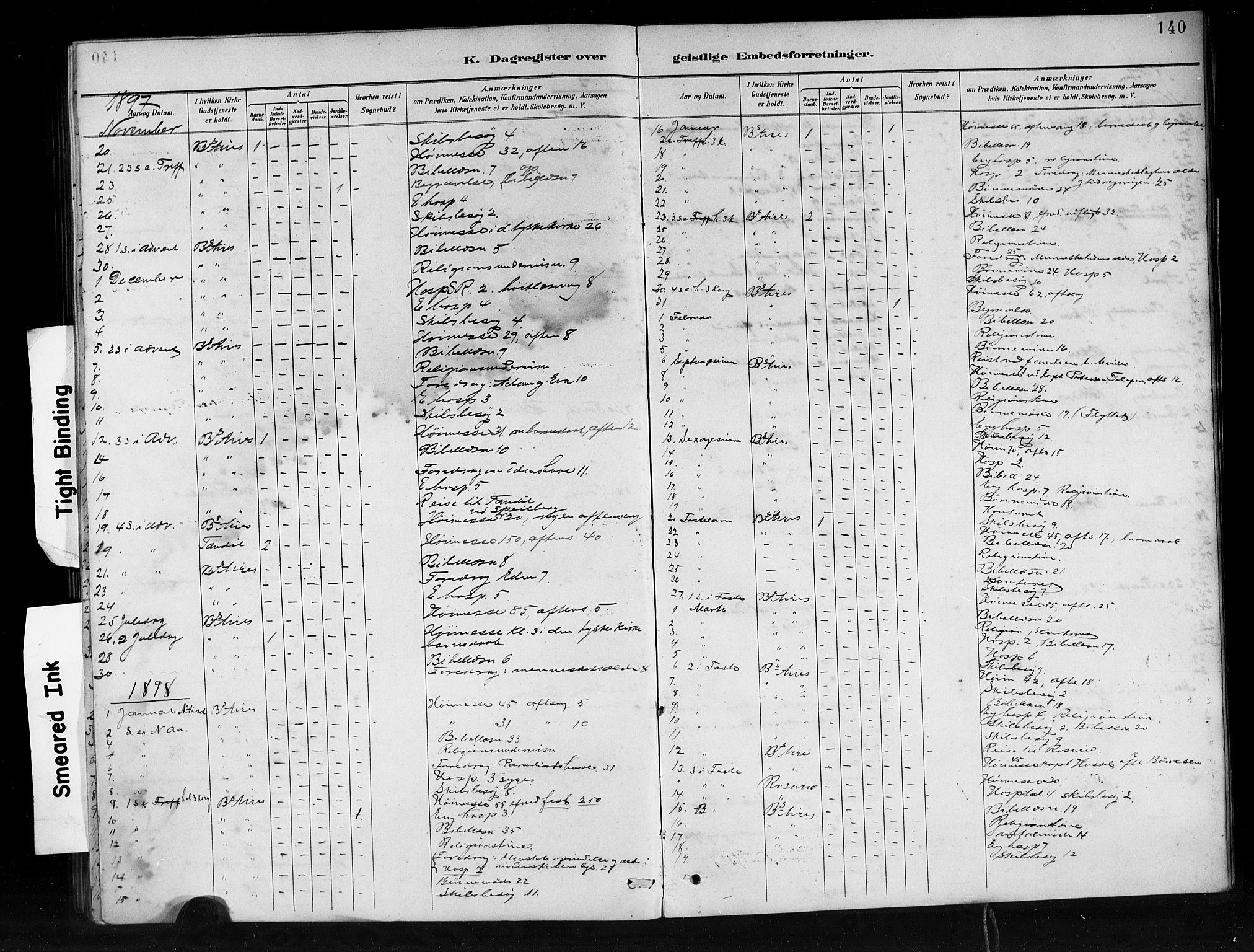 SAB, Den Norske Sjømannsmisjon i utlandet*, Ministerialbok nr. A 1, 1888-1898, s. 140