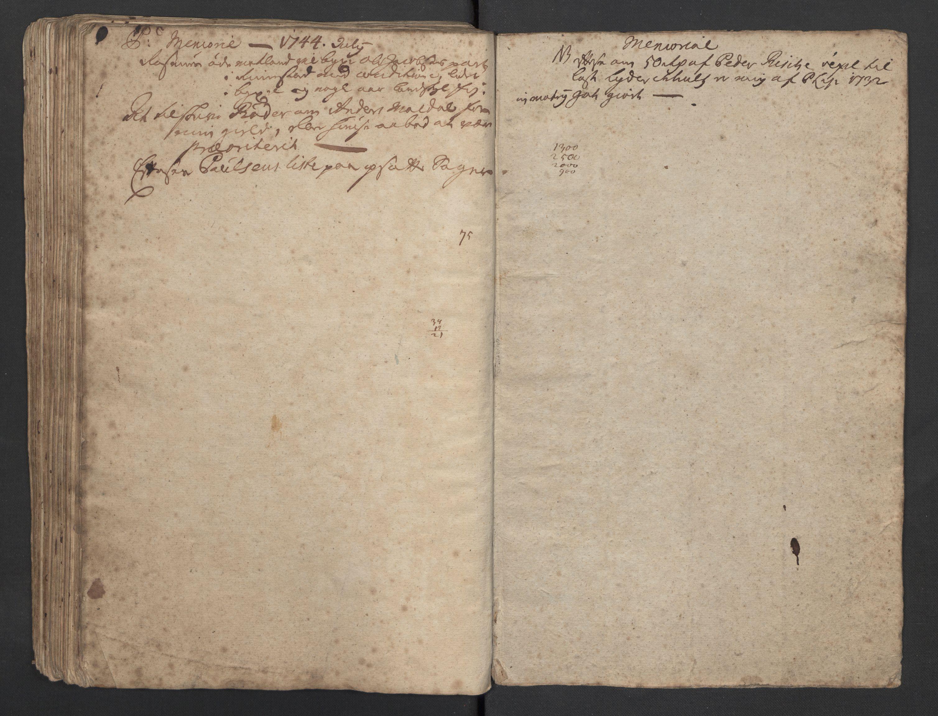 SAST, Pa 0119 - Smith, Lauritz Andersen og Lauritz Lauritzen, O/L0001: Kopibøker m.m., 1740-1745, s. 164